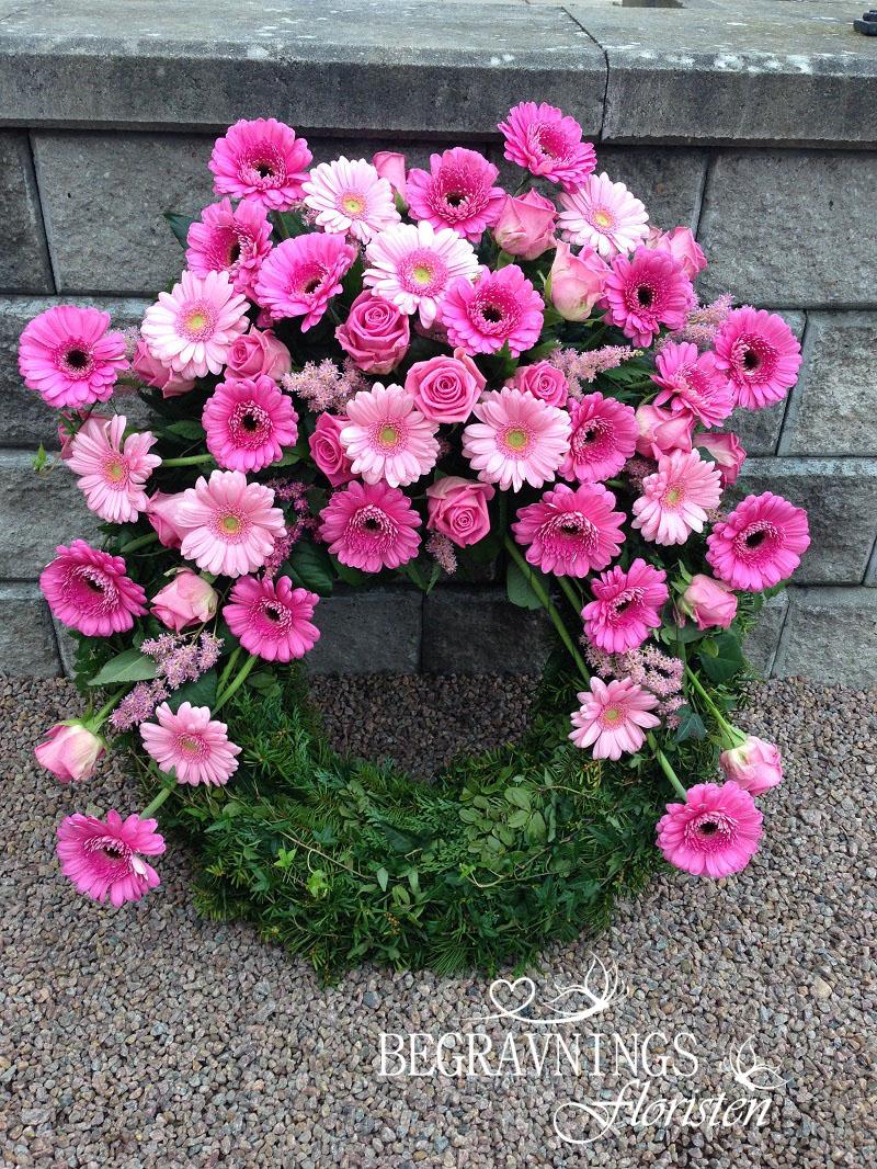 krans-begravning-rosa-gerbera