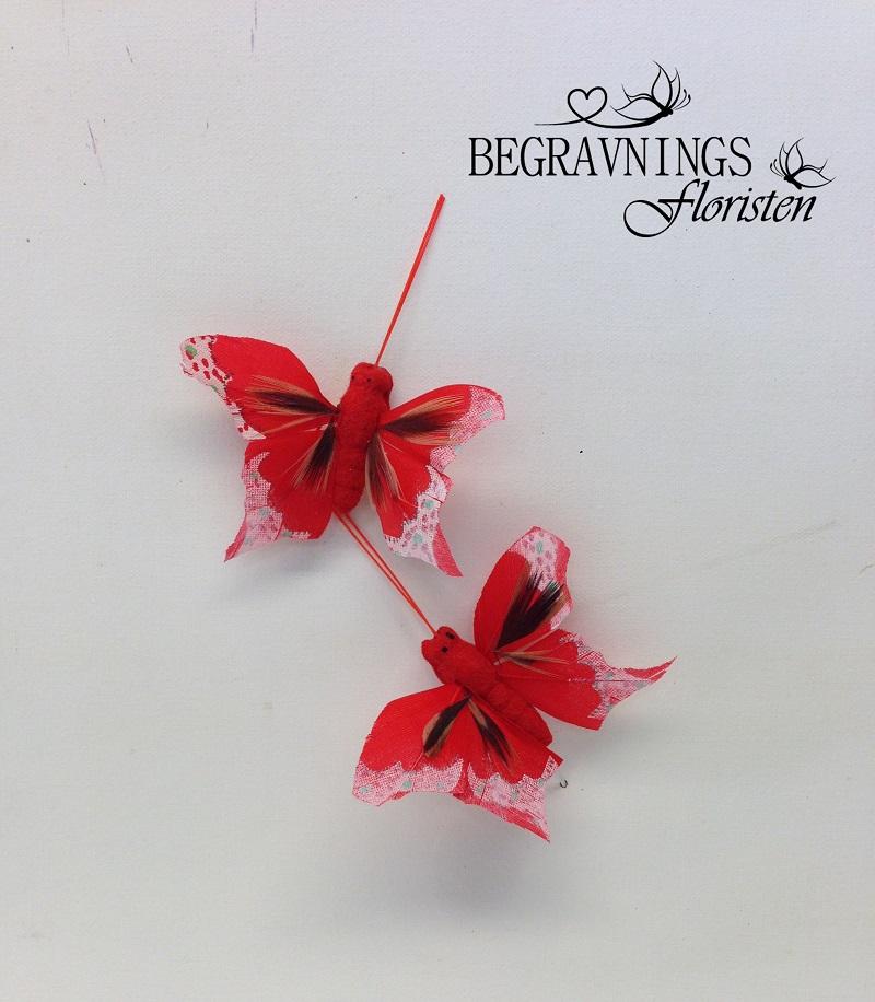 Röd fjäril