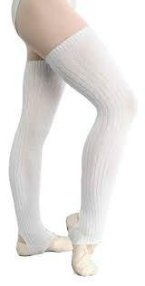 Benvärmare med fot, Intermezzo - Vita senior finstickad (65 cm) - Intermezzo