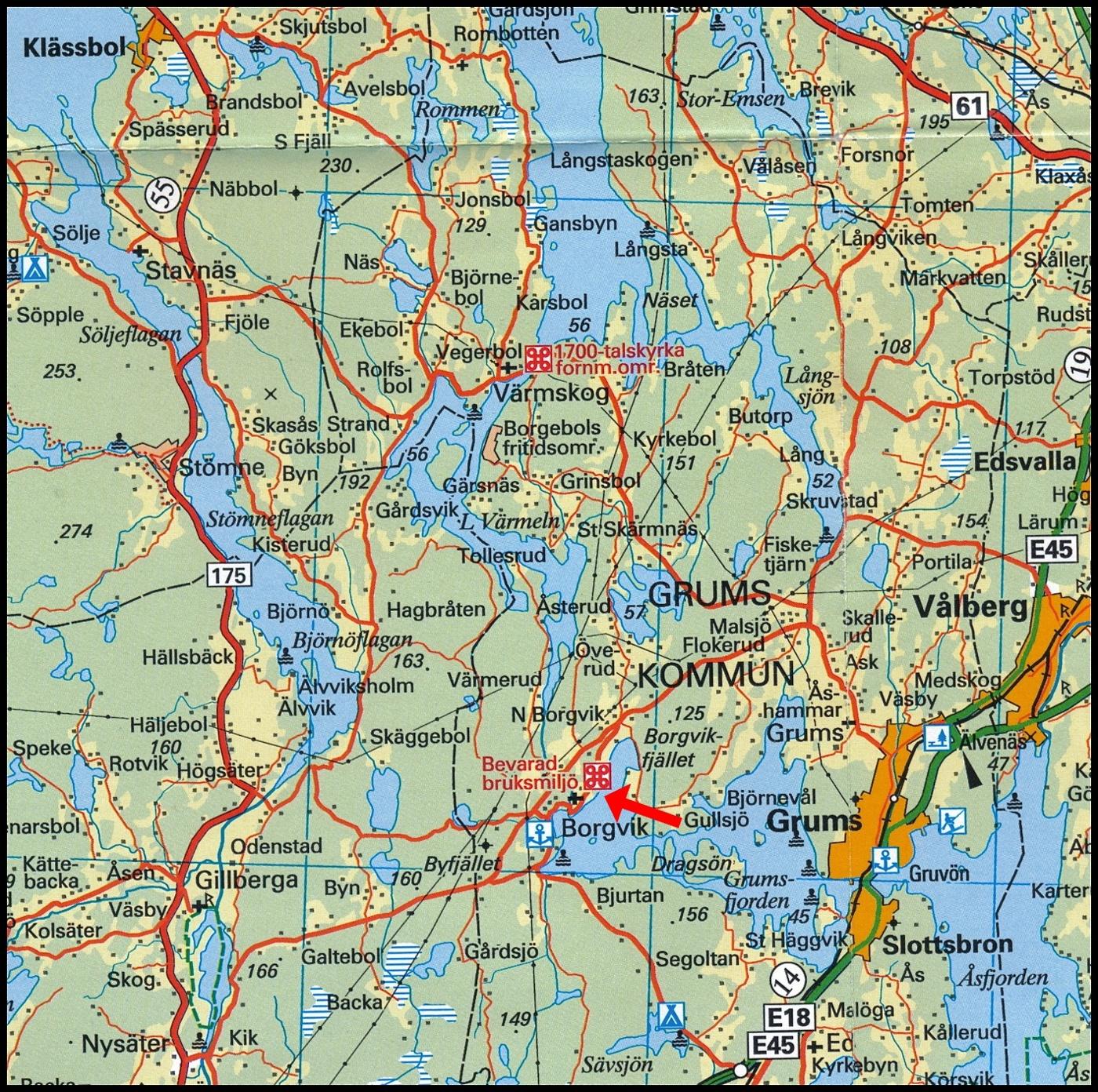 karta över grums Borgvik | Värmlands bildgalleri karta över grums
