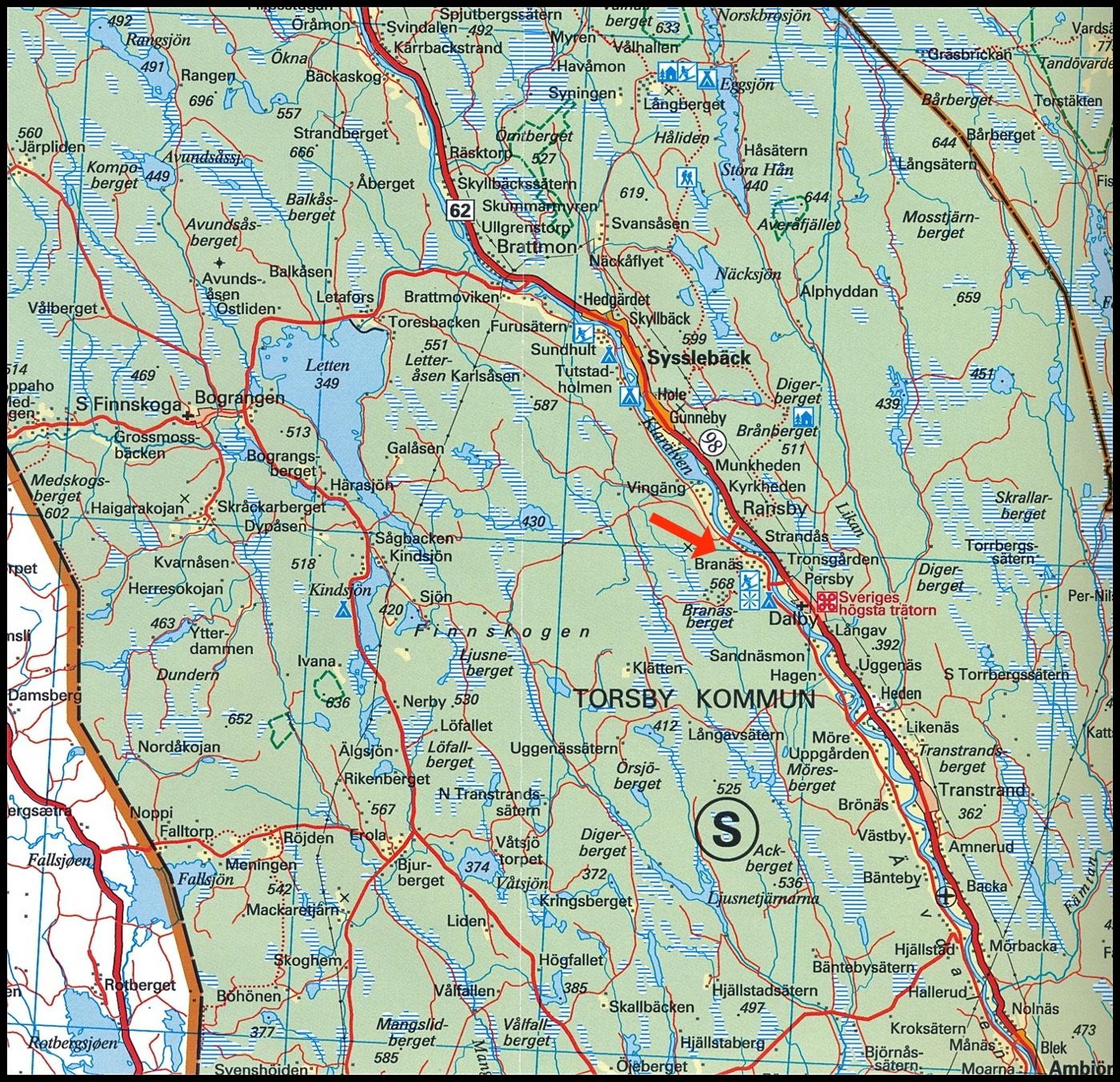 karta branäs Branäs By   Värmlands bildgalleri karta branäs