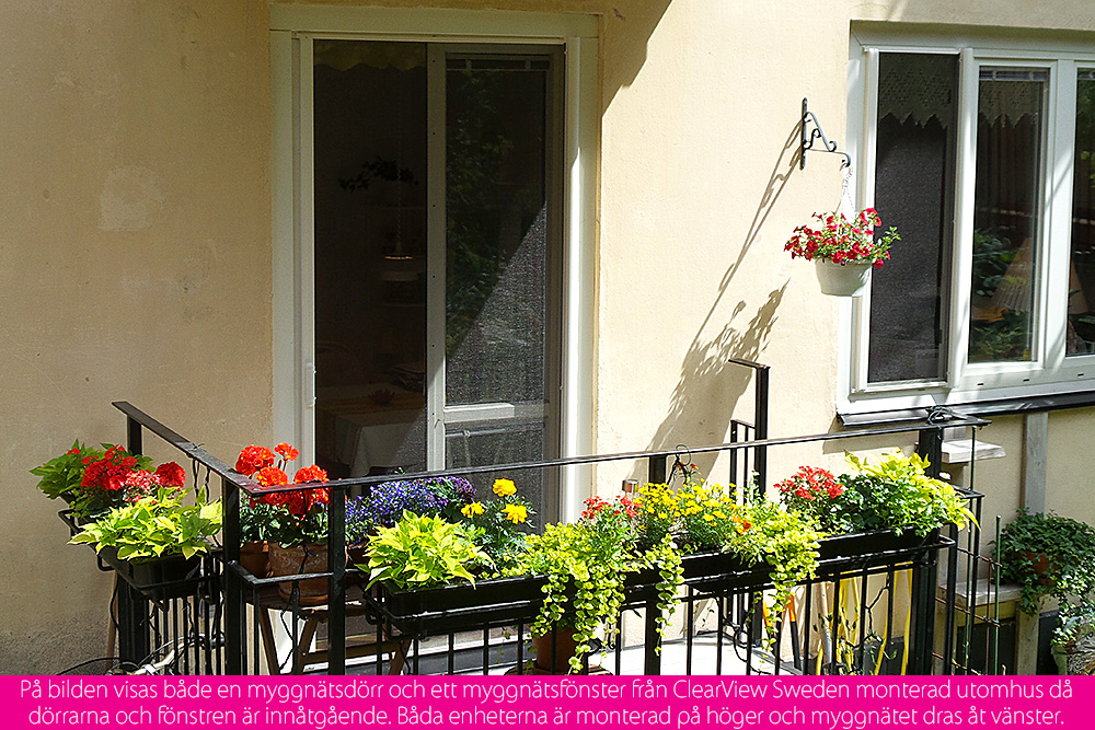 myggnätsdörr till balkong