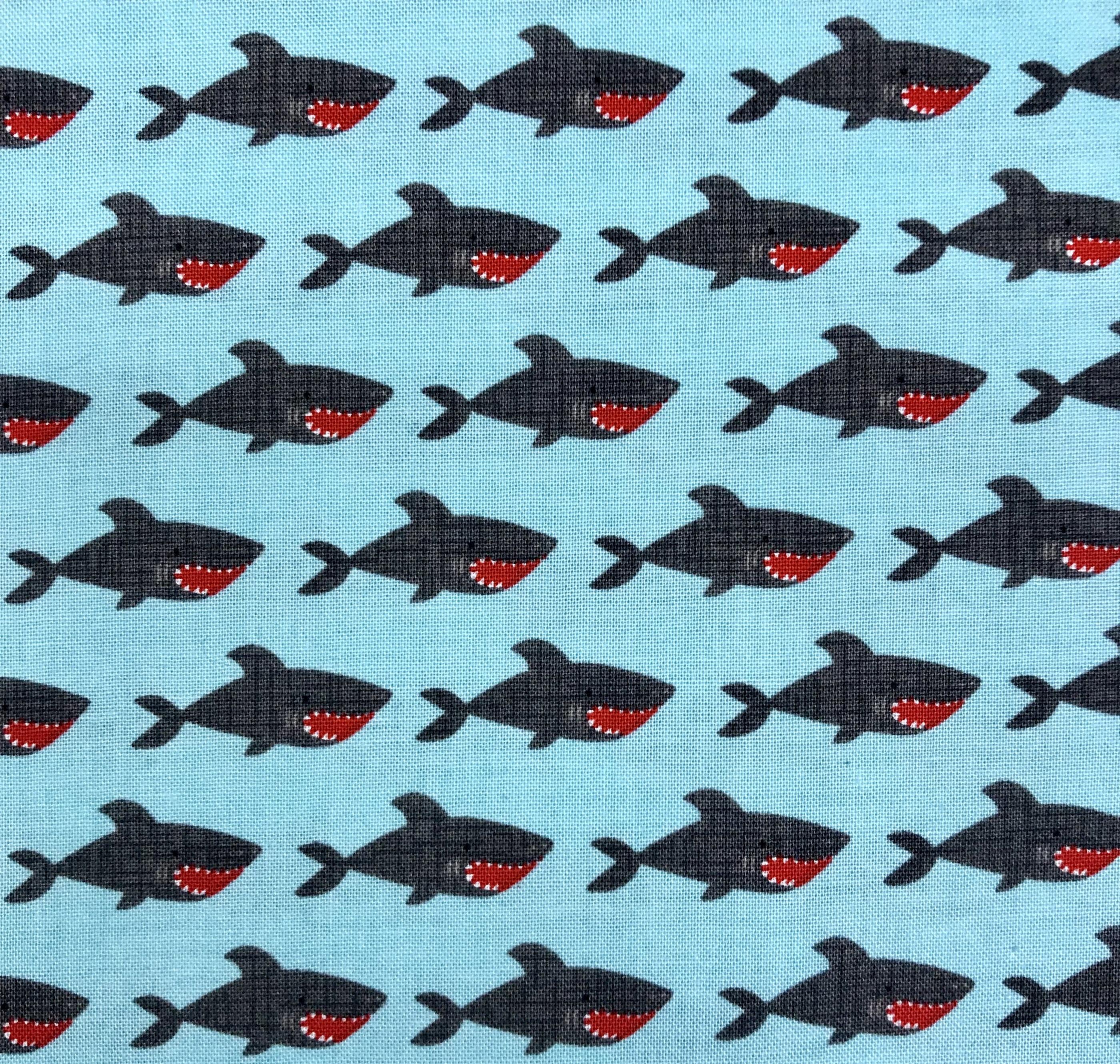 hajar bomull vävt tyg metervara blå turkos