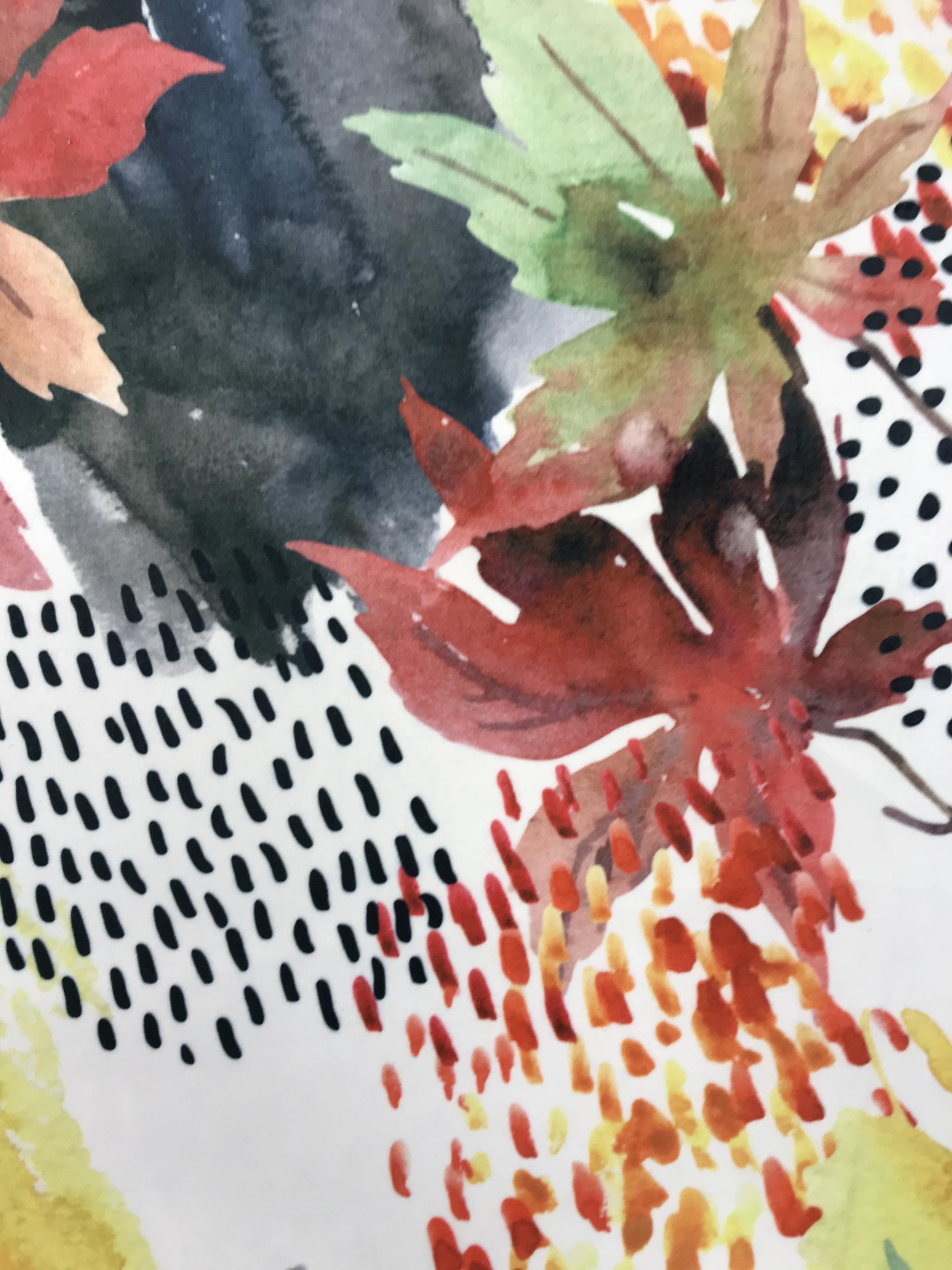 glad blad sammet tyg metervara färgglad
