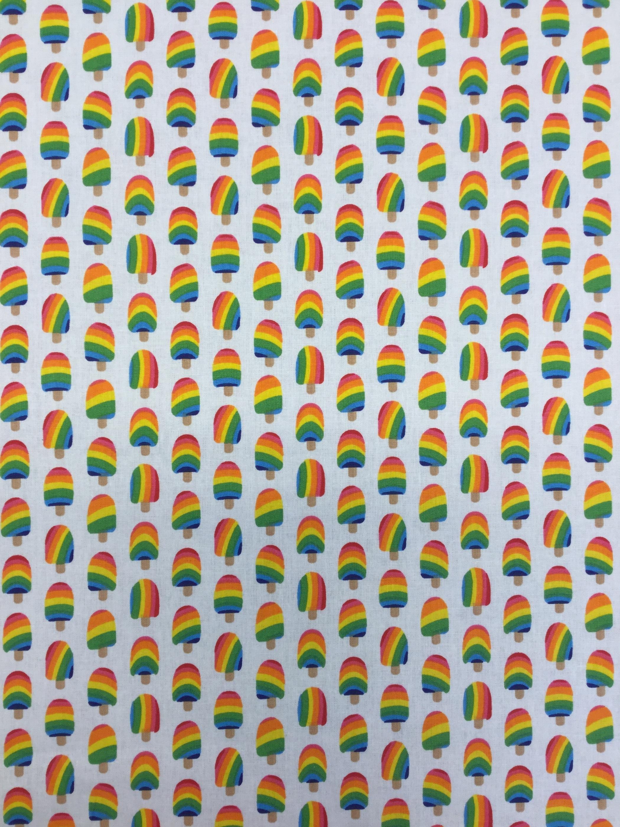 regnbåge glass regnbågsglassar tyg vävt bomull Tyglust