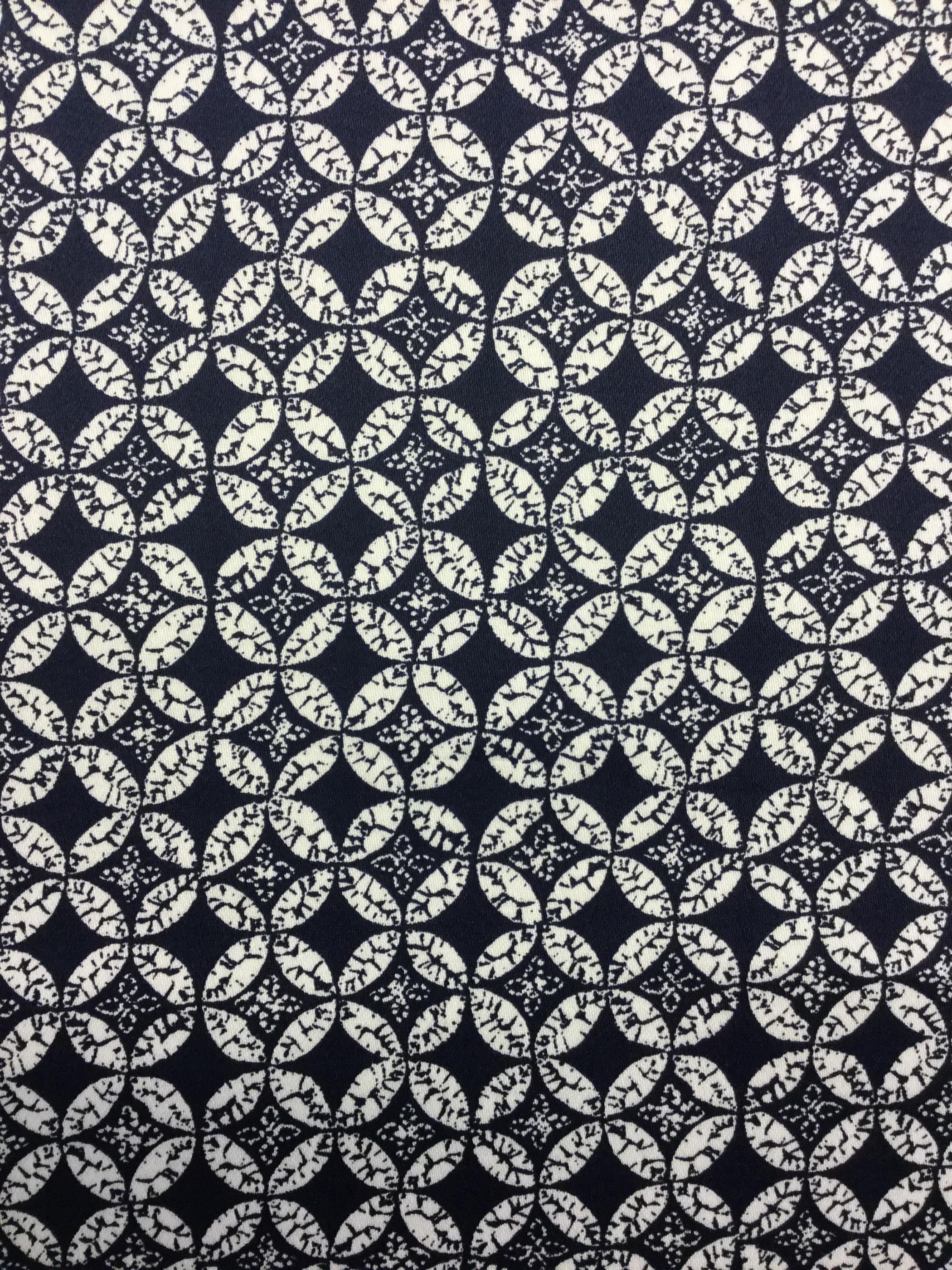 washington blå vit mönster modetyg metervara Tyglust laholm