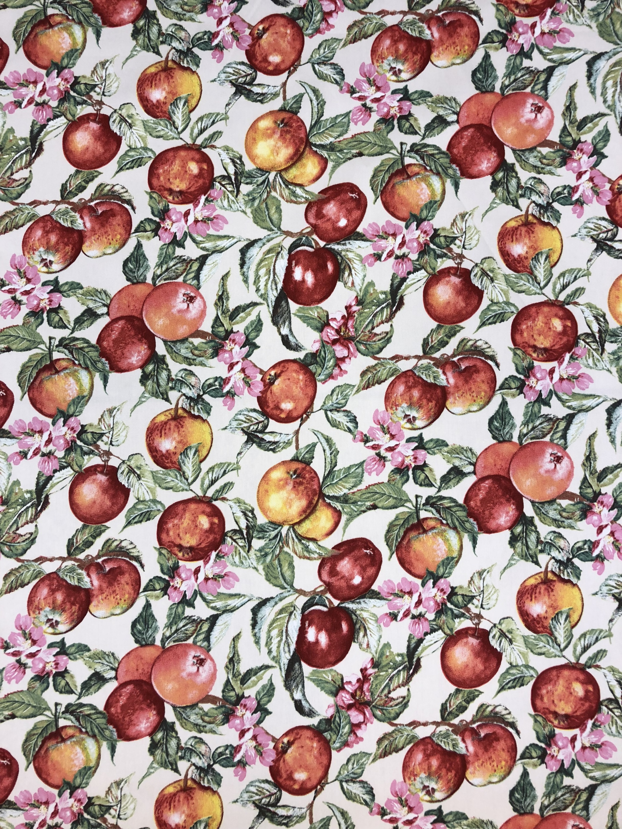 Äppel blom äppelblom bomullstyg hemtextil Tyglust