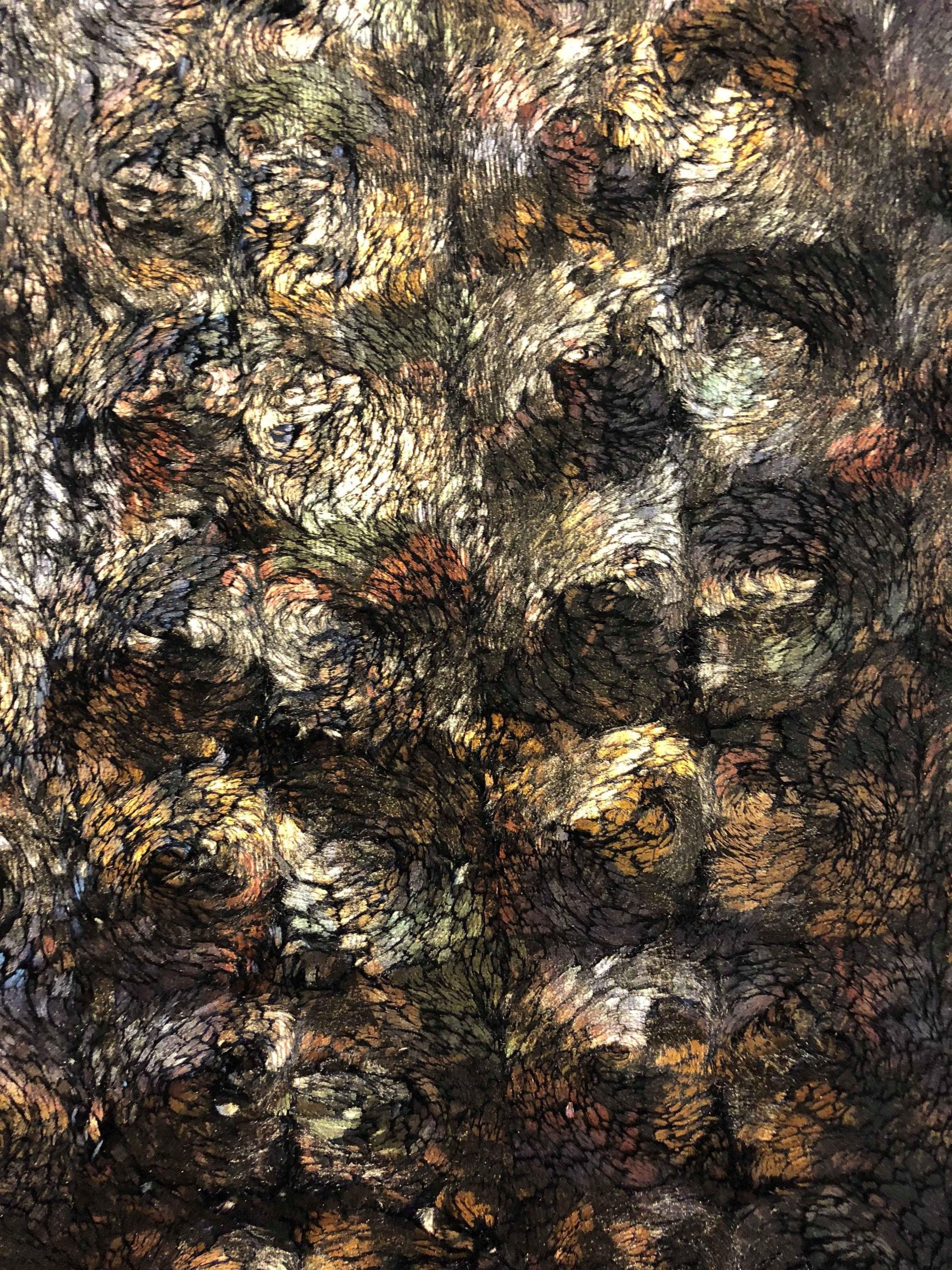 brun fuskpäls skimrande polyester Tyglust metervara modetyg