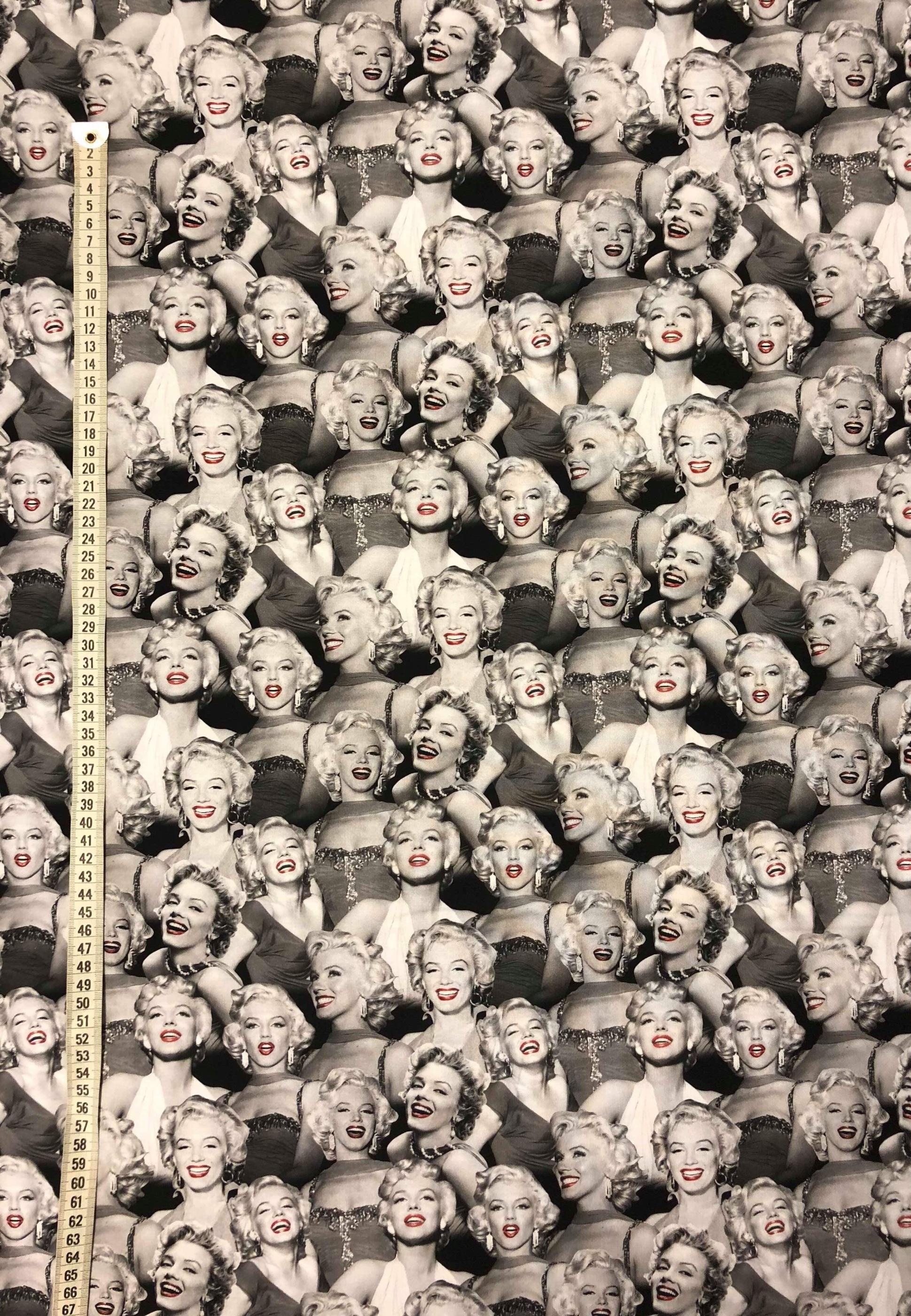 Bomullstyg svart vit svartvitt metervara modetyg Tyglust