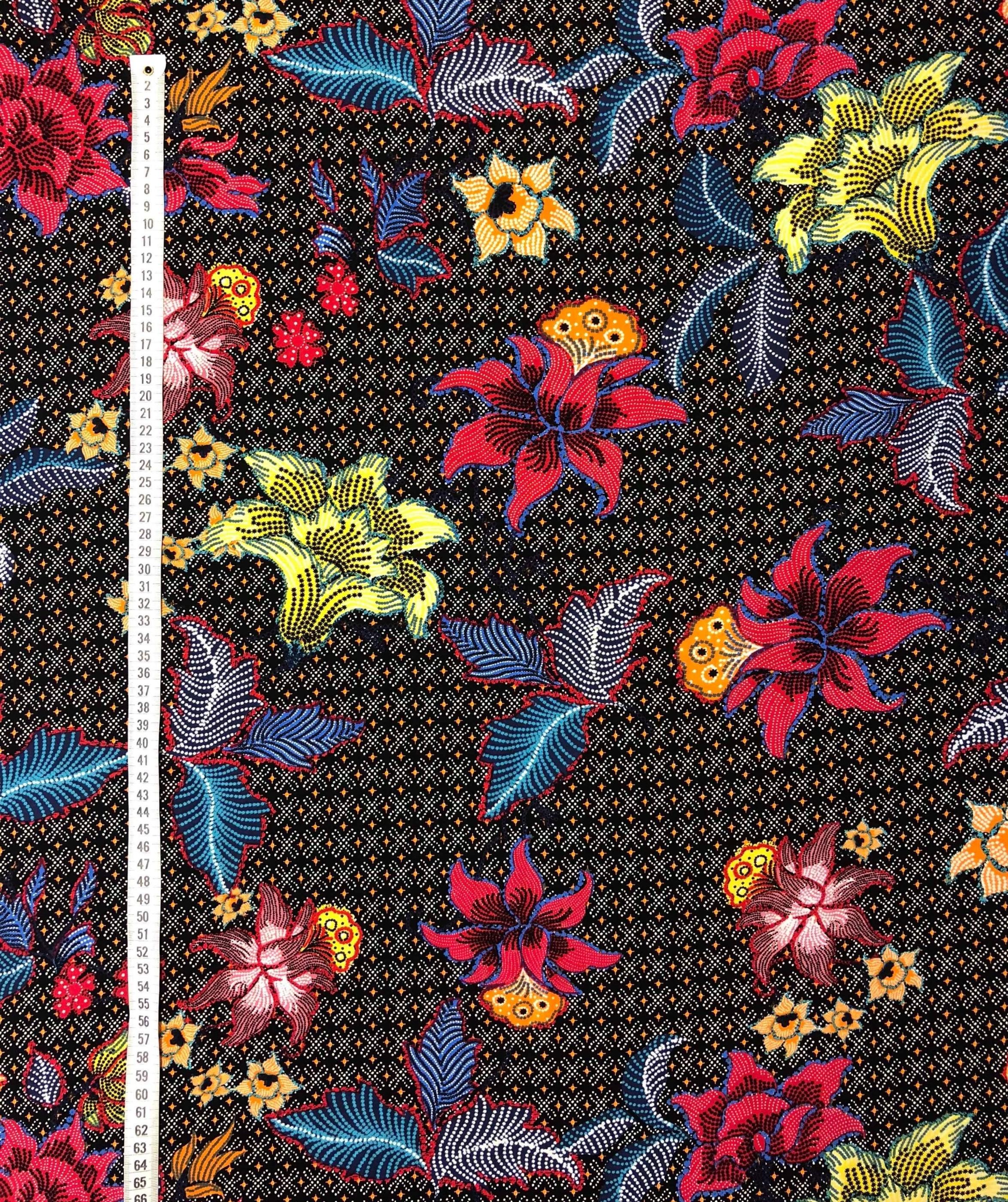 Tigerlilja lilja blommor viscose metervara modetyg Tyglus t Laholm