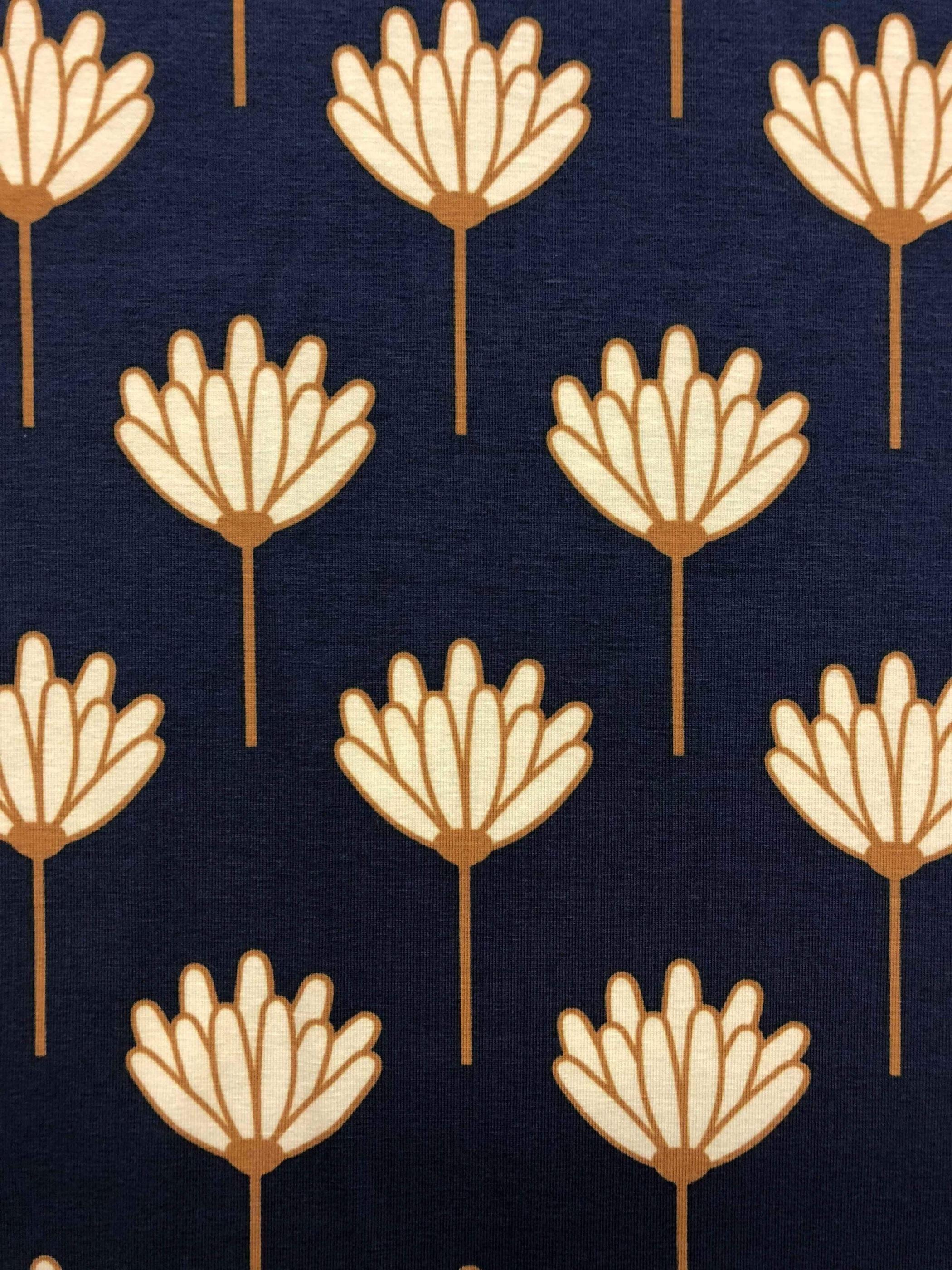 bomullstrikå trikå Paris blommor blå mintgrön mint metervara Tyglust Laholm