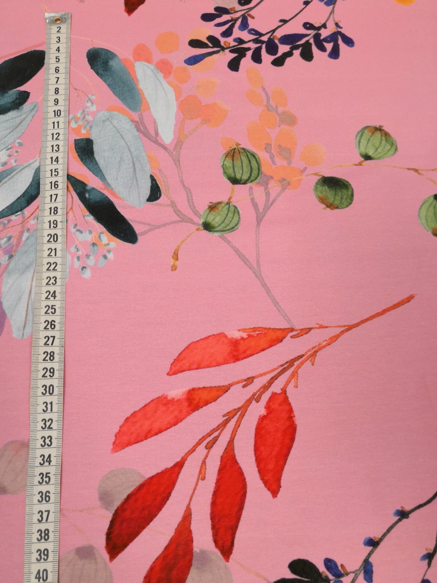 calla bomullstrikå rosa