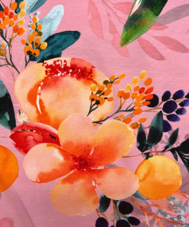 bellis rosa tyglust, tyg, trikå, mode, sy, sömnad, textil design, metervara, tygaffär