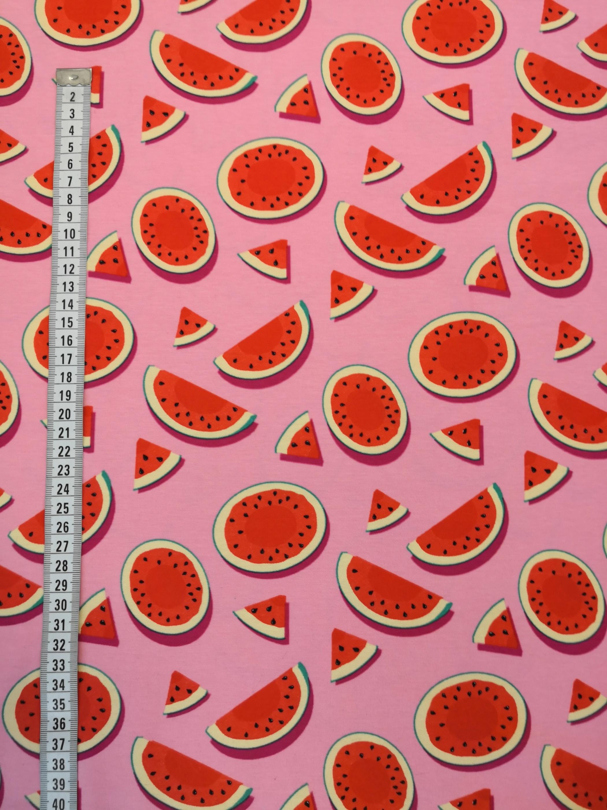melon, rosa, metervara, tyg, tyglust