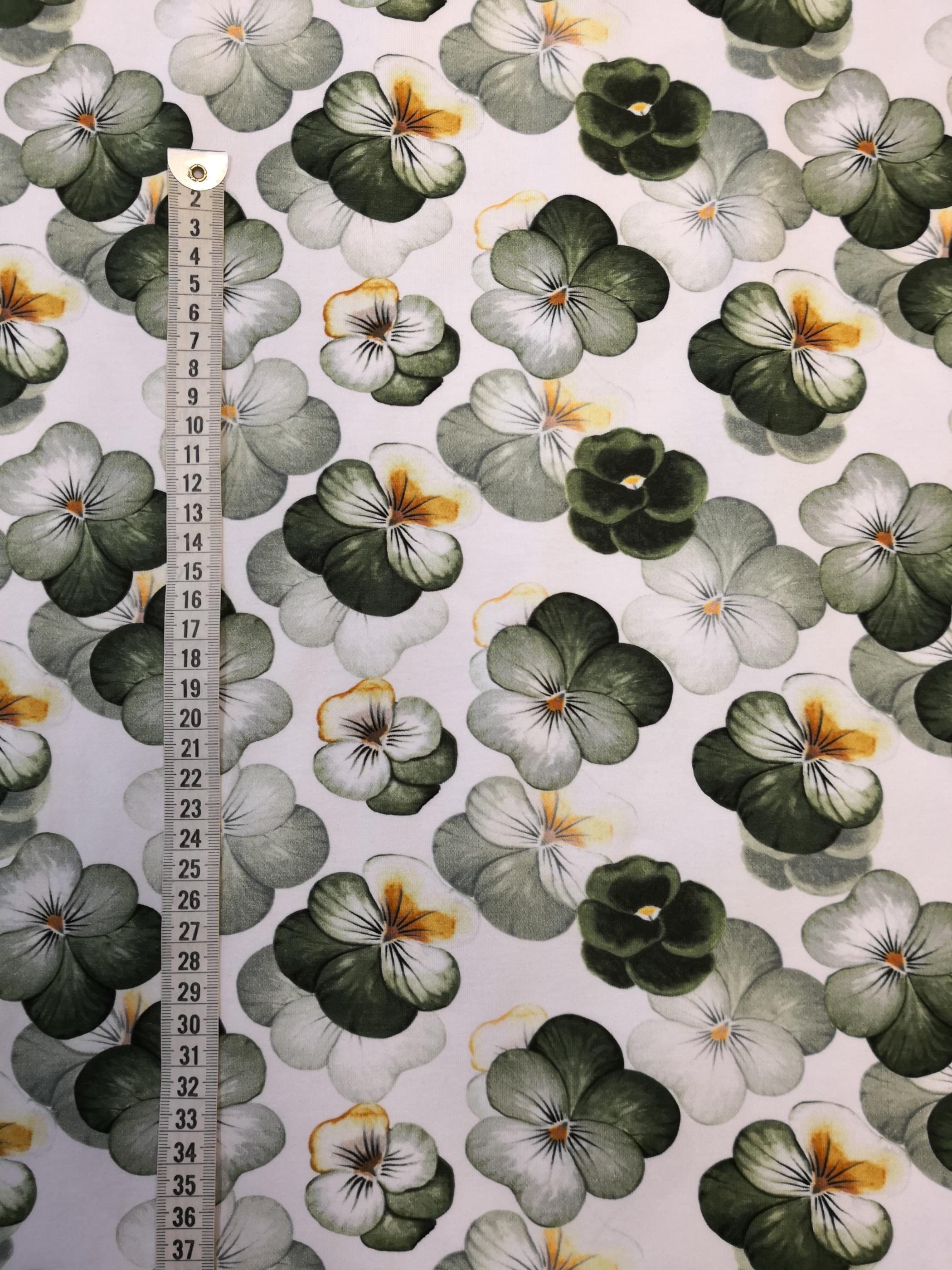 Gröna violer, tyg, metervara, tyglust, violer, vår