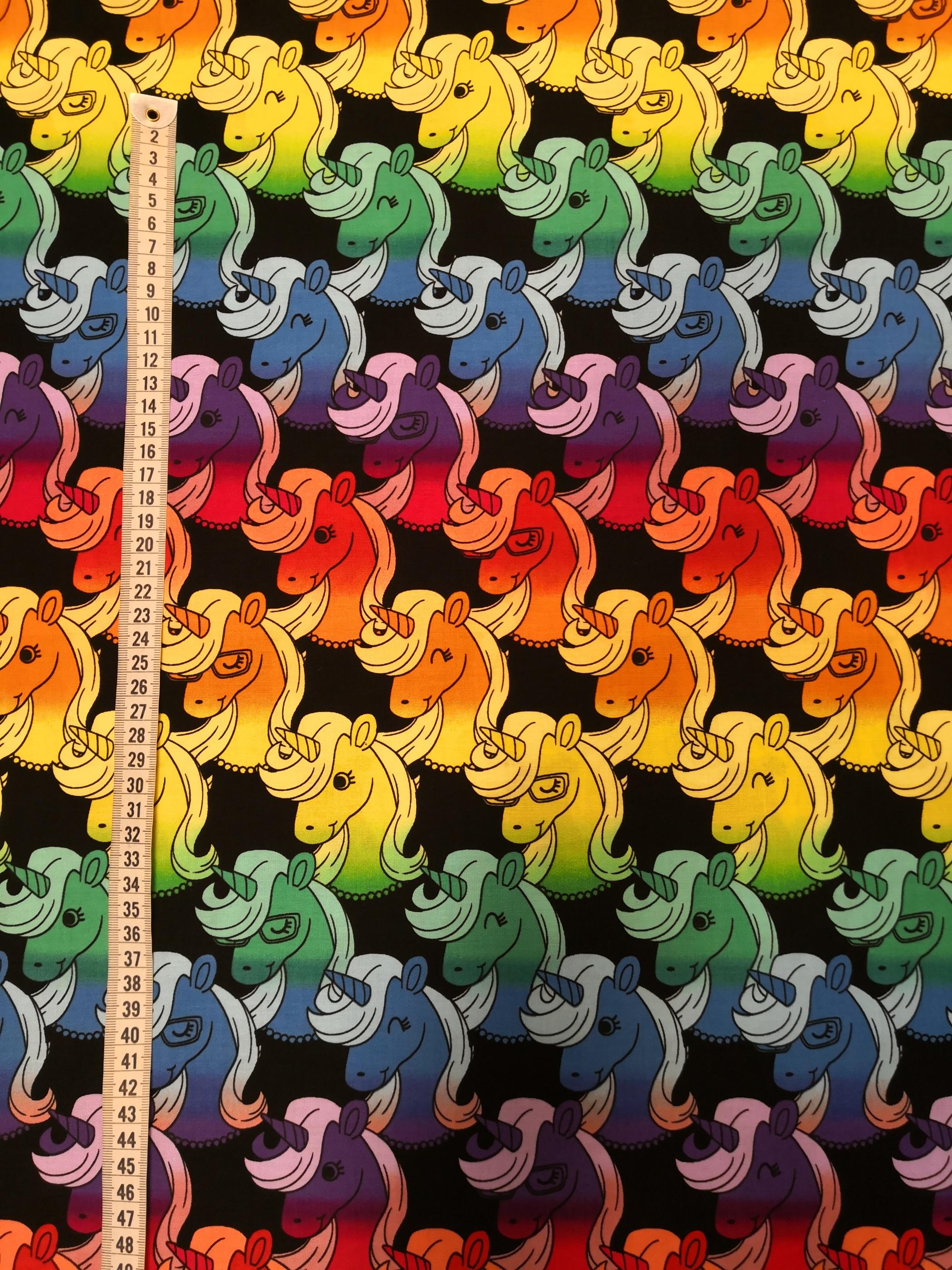 Regnbågs unicorn vy