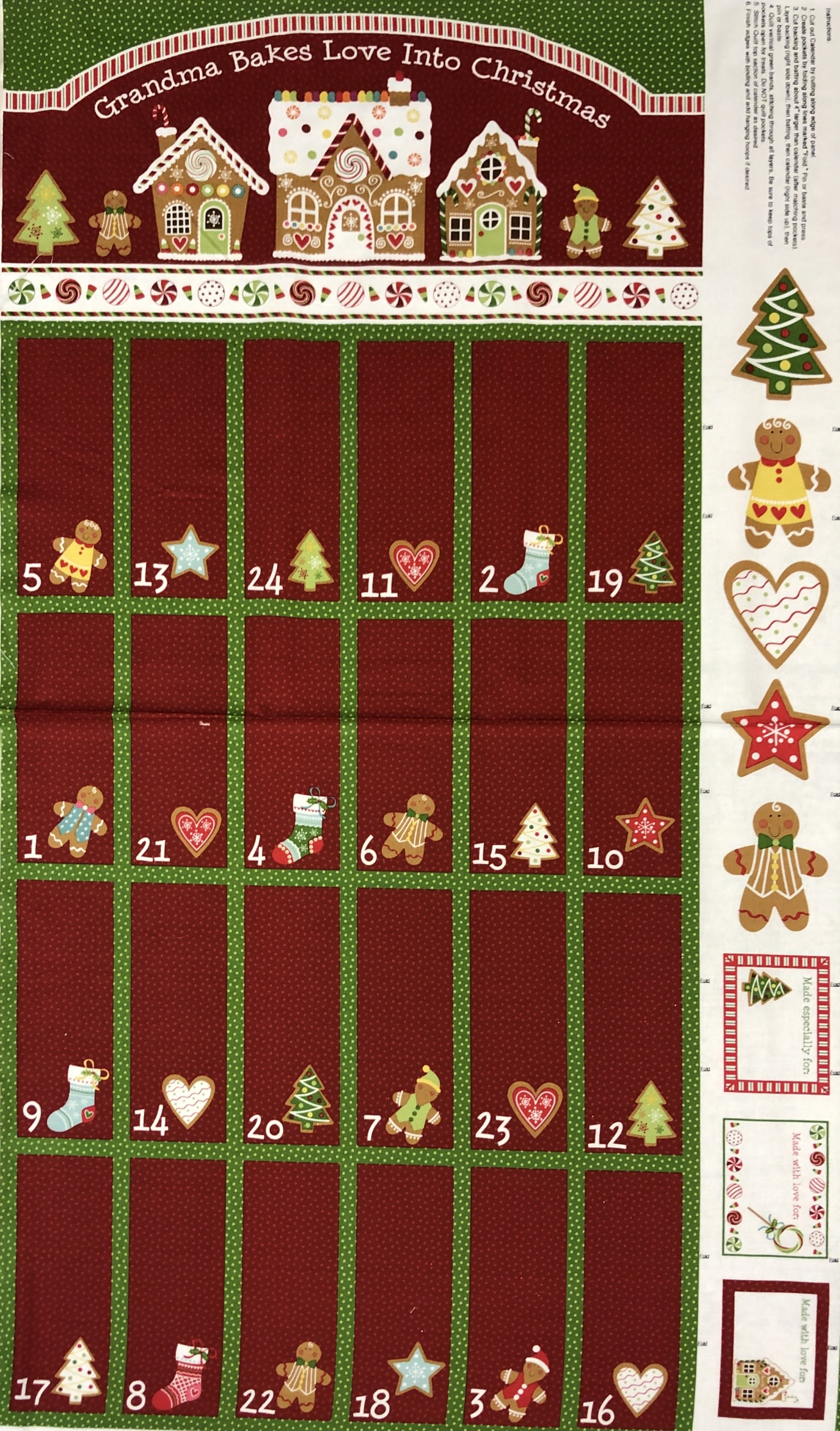 Julkalender röd jul bomull diy rapport tyglust laholm