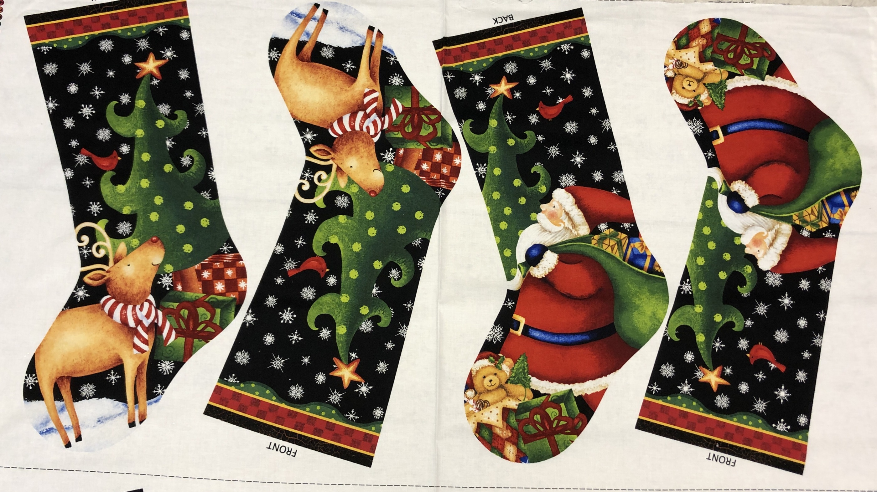 Julstrumpa  diy svart tomte ren Rudolf jul Tyglust laholm