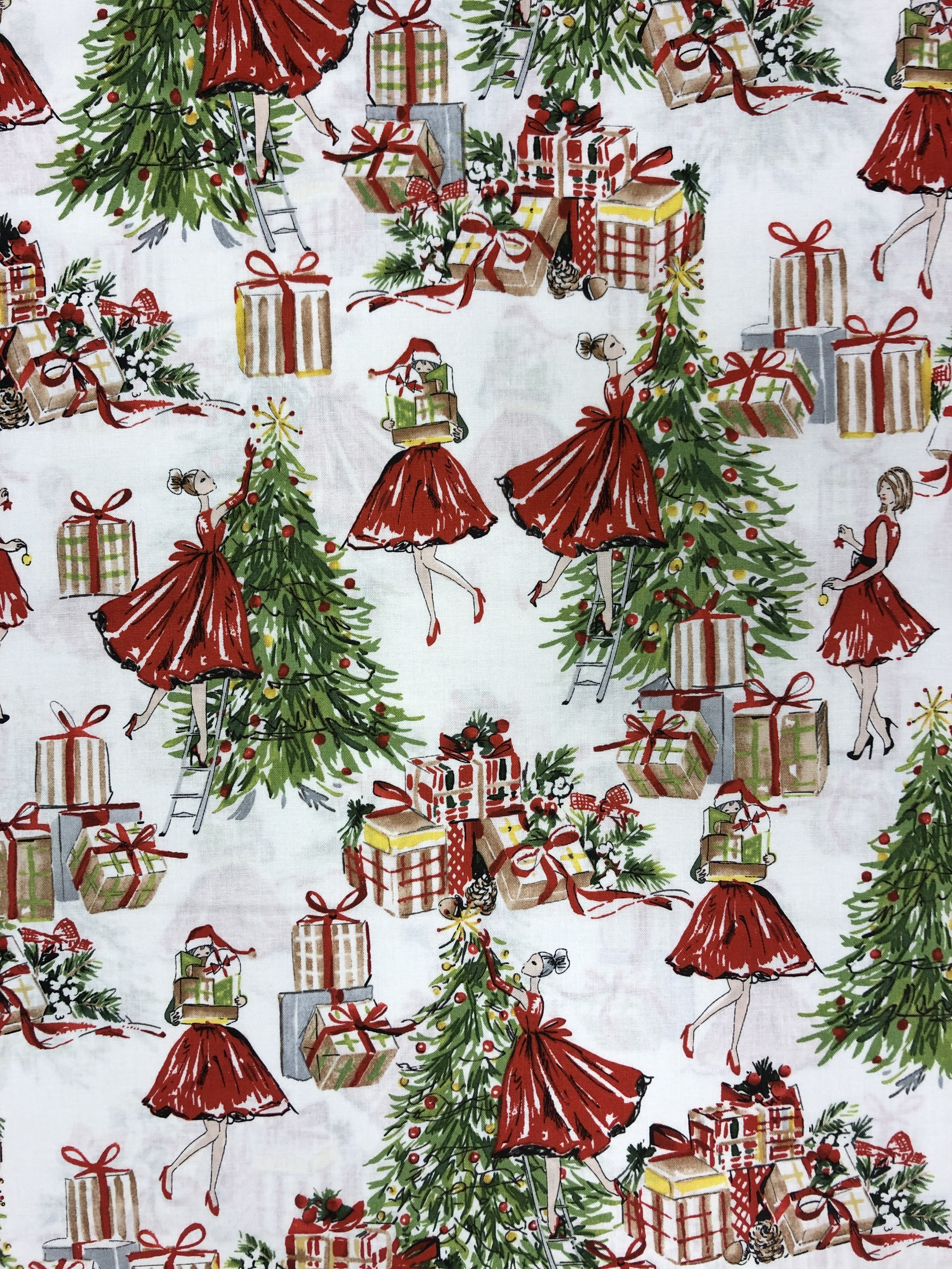 Jul jultyg Christmas gran julklapp tyglust laholm
