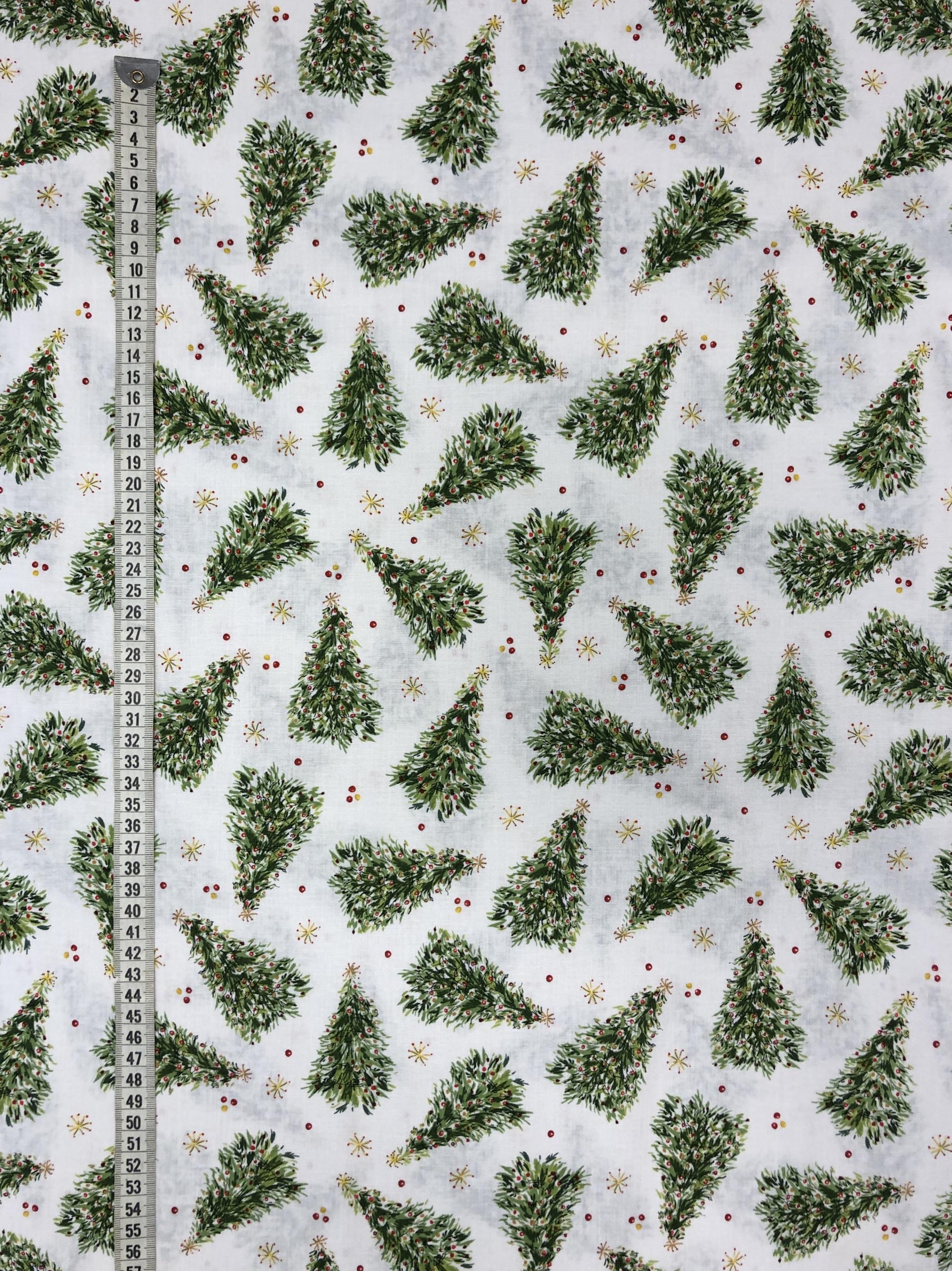 Jul julgranar klassisk Christmas bomull tyglust laholm