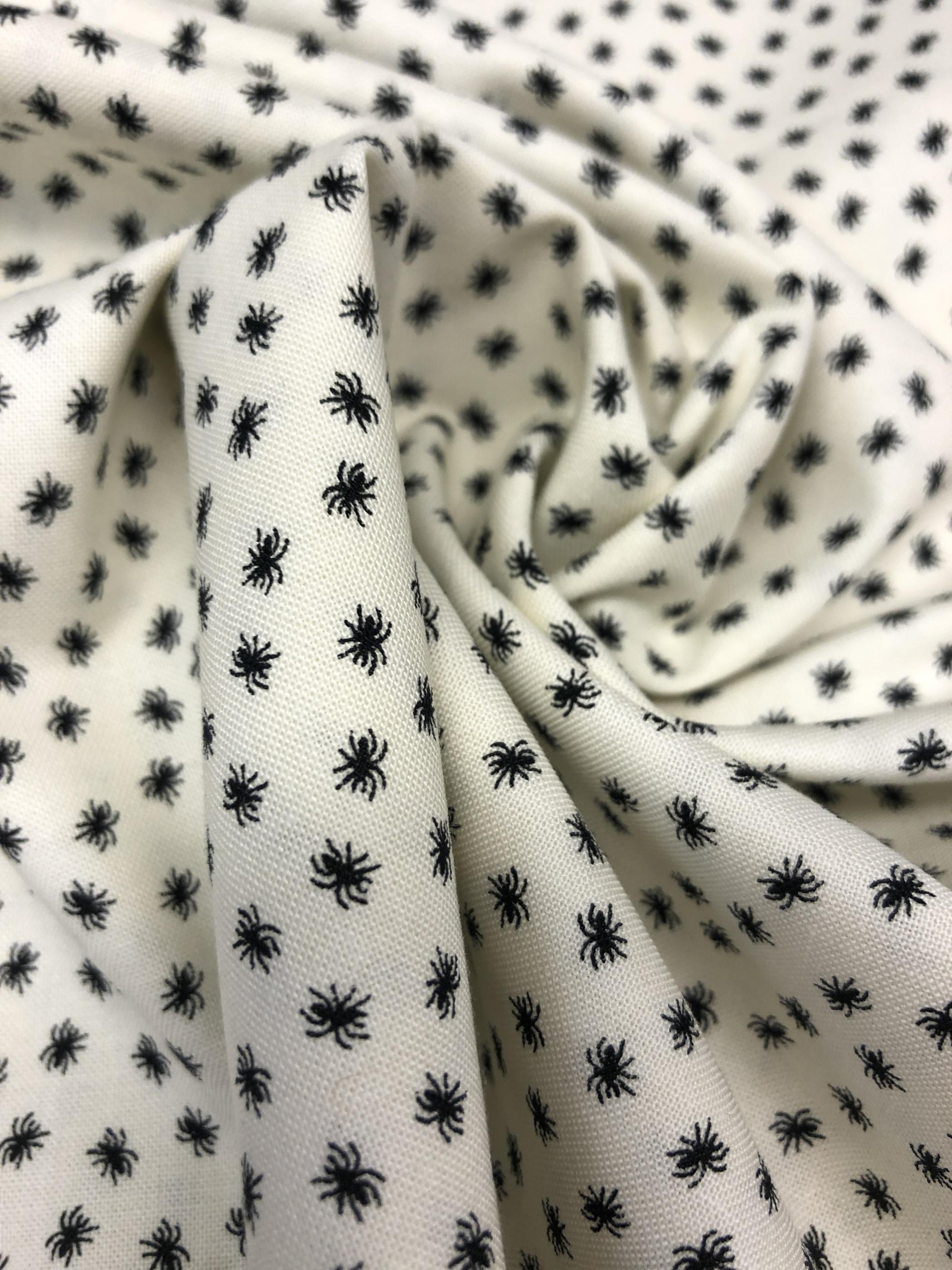 Spindlar halloween bomull modetyg tyglust laholm