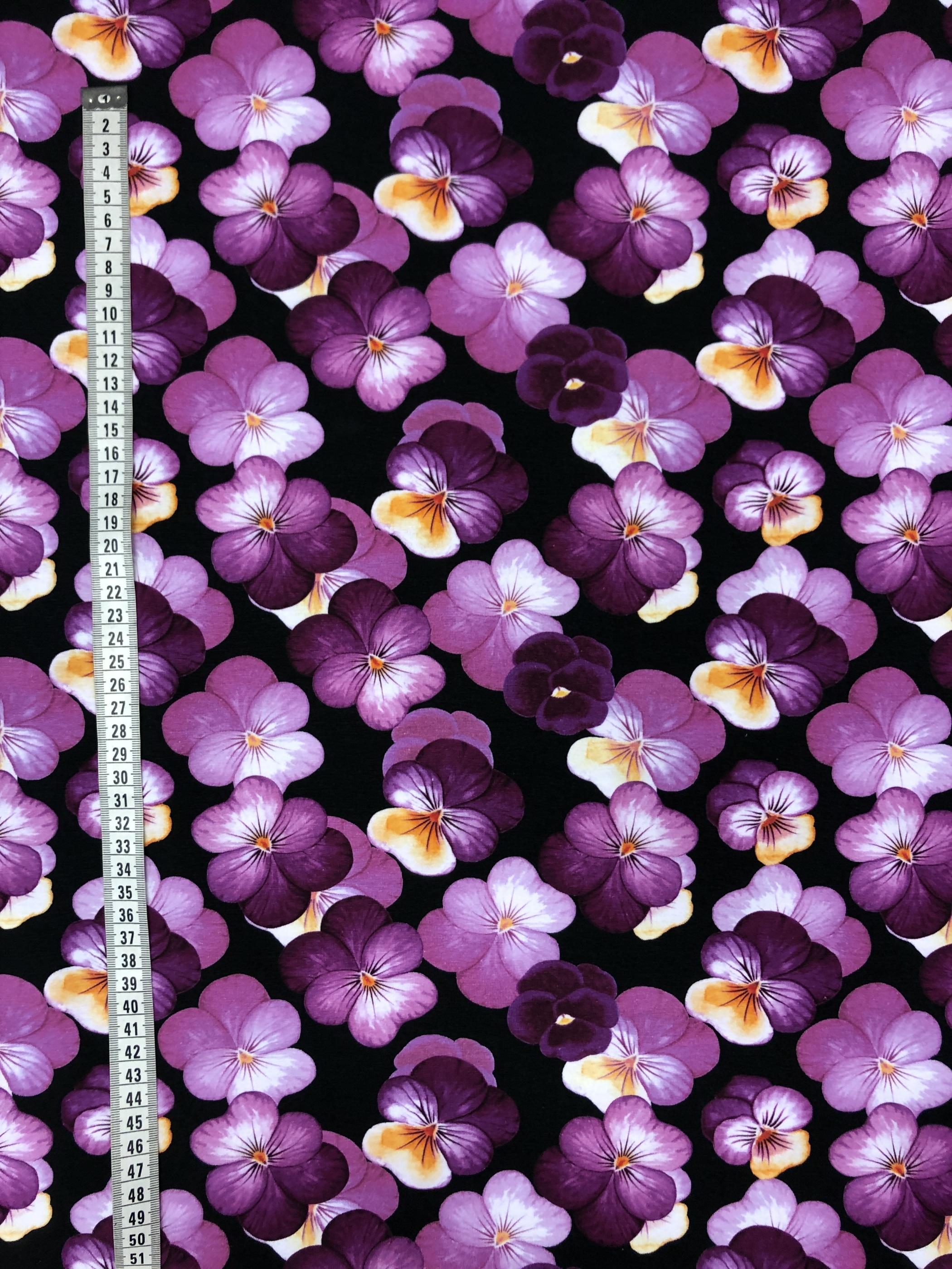 viol bomullstrikå trikå lila modetyg laholm tyglust