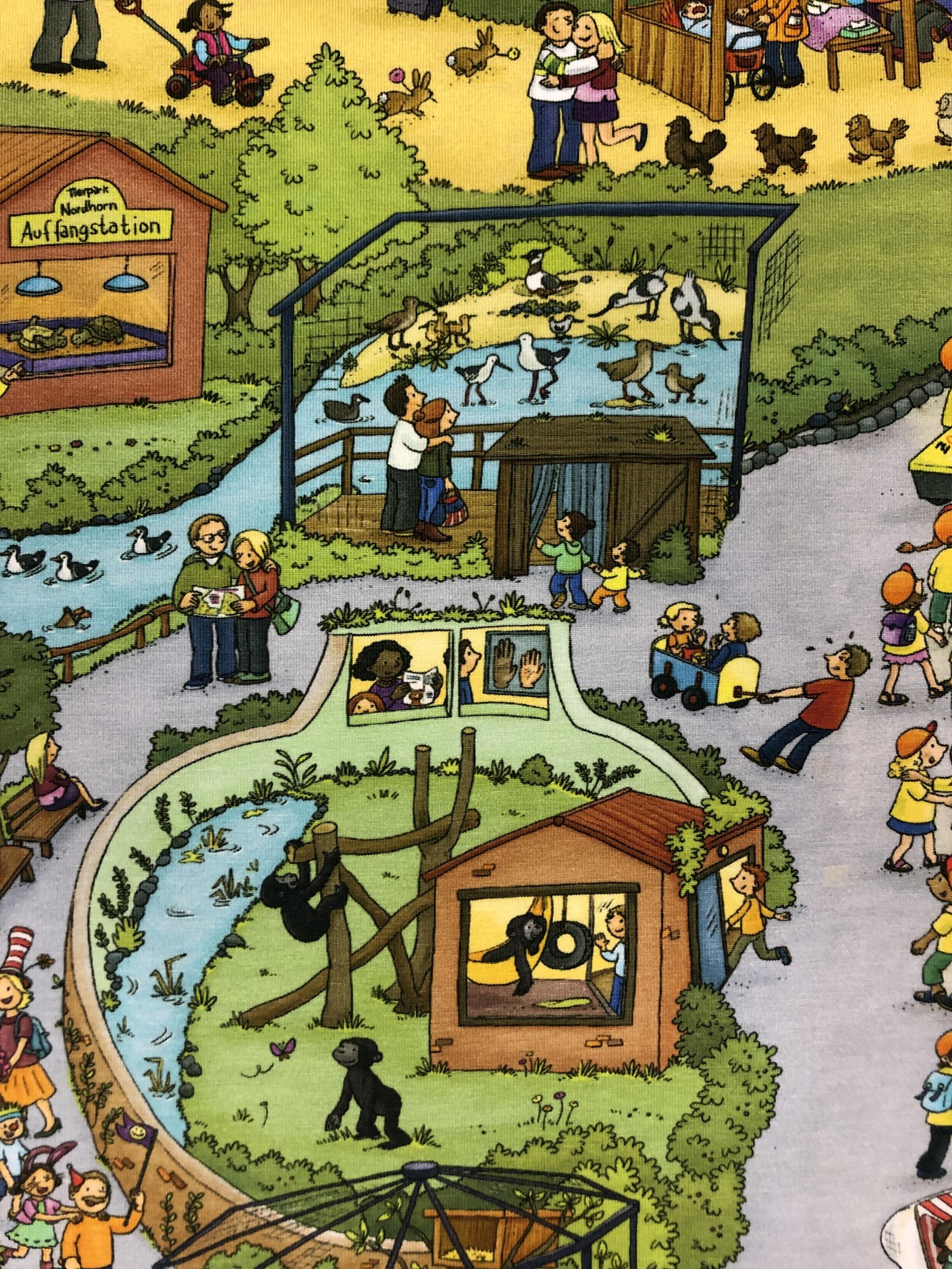 zoo djur metervara trikåtyg trikå barntyg tyglust laholm