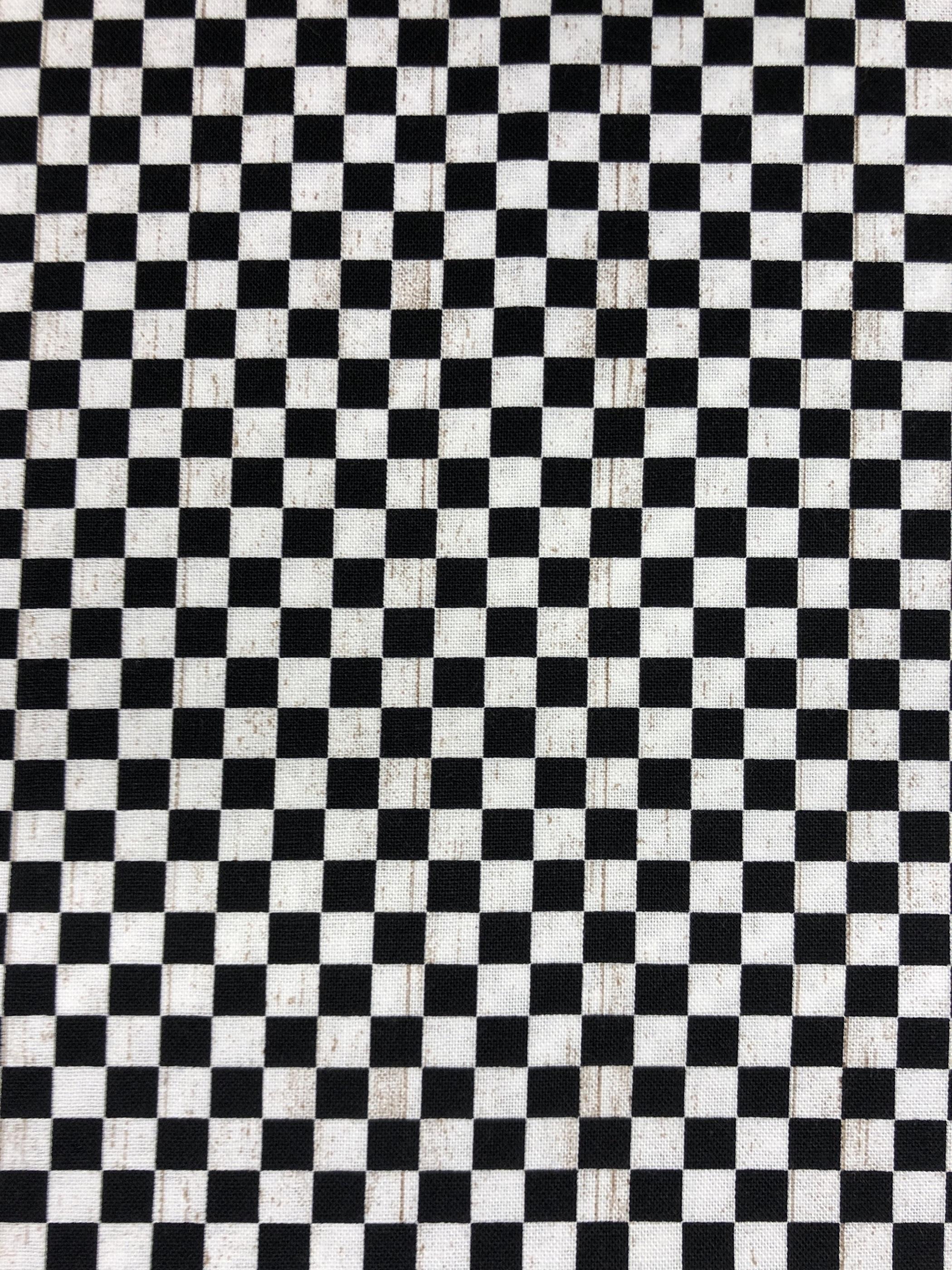 rut rutig modetyg bomullsväv bomull svartvit svart vit metervara tyglust laholm