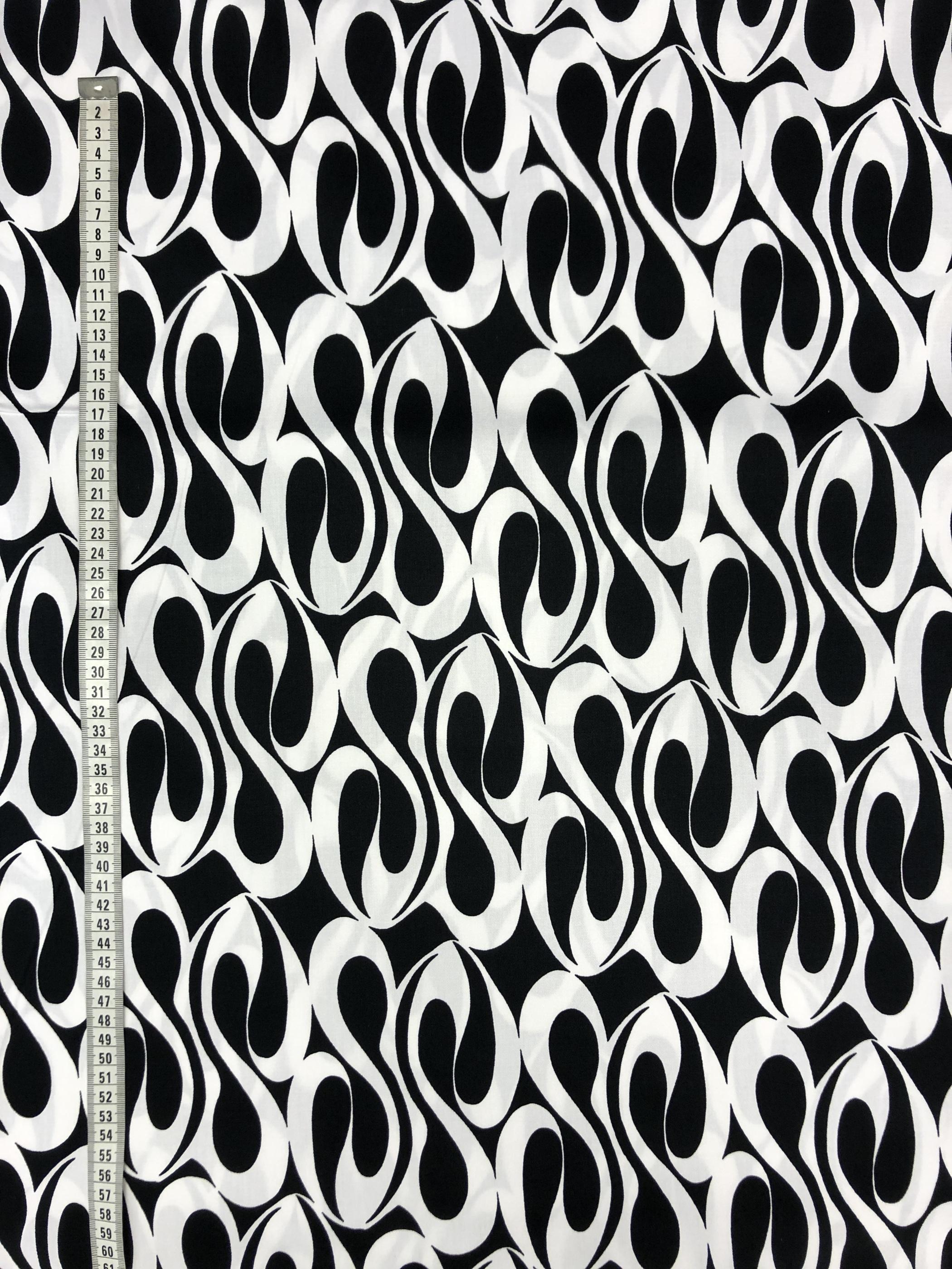 edla bomull modetyg metervara svart vit svartvit tyglust laholm