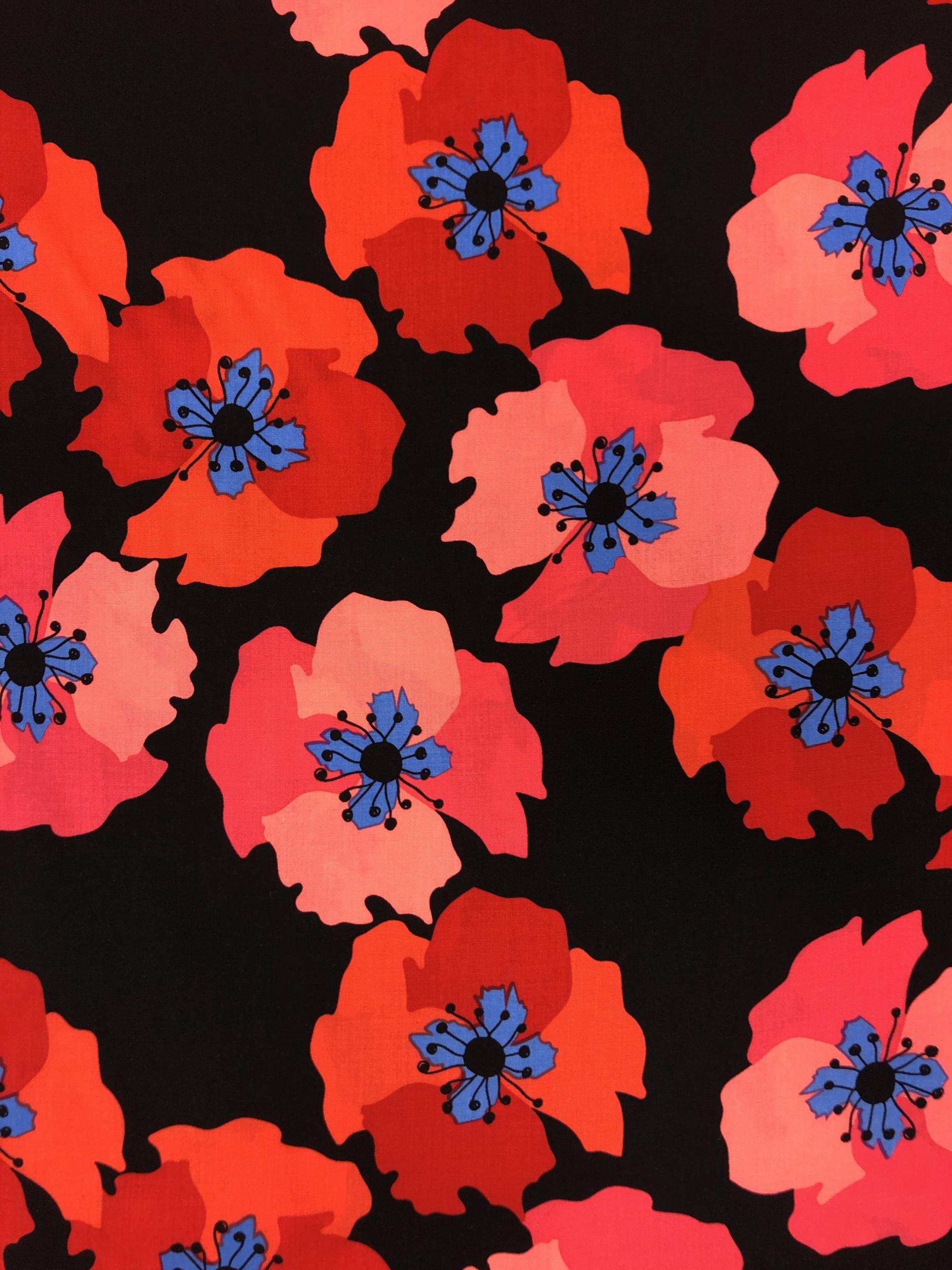 matilda viskos metervara rosa röd svart blommor tyglust laholm