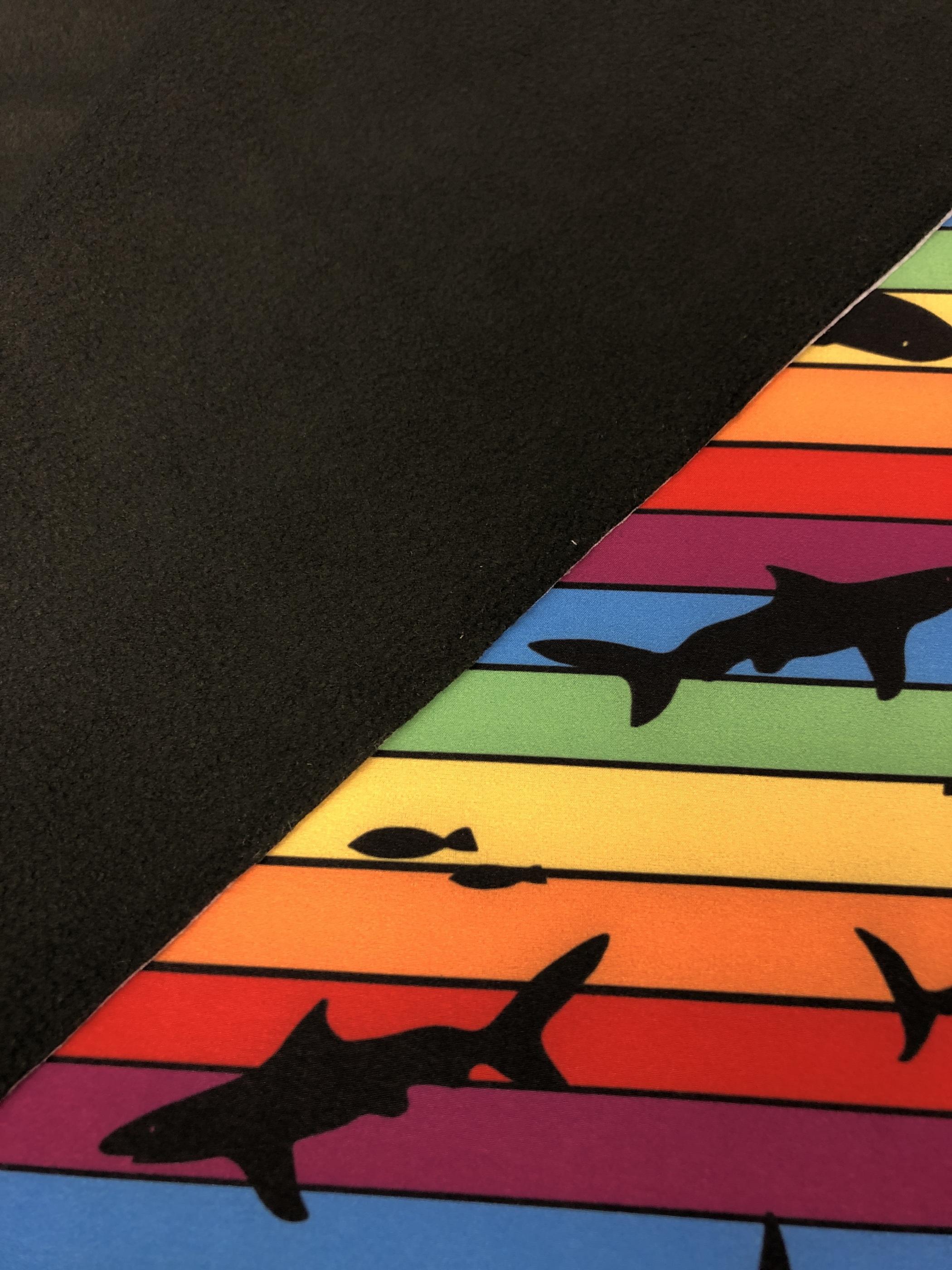 regnbågshaj regnbåge haj softshell metervara färgglatt tyglust laholm