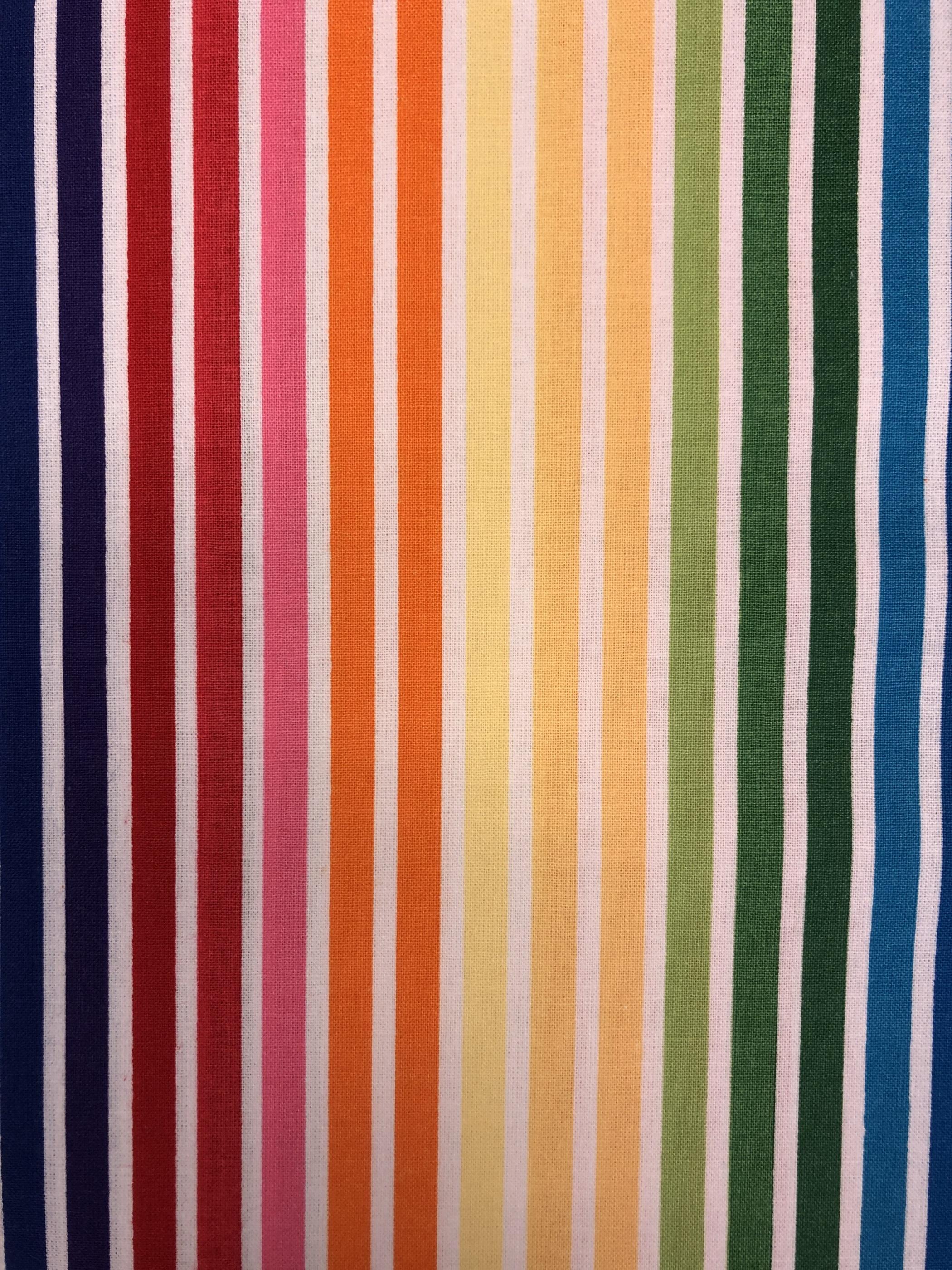 regnbåge regnbågsrand färgglad randig bomullsväv metervara tyglust laholm
