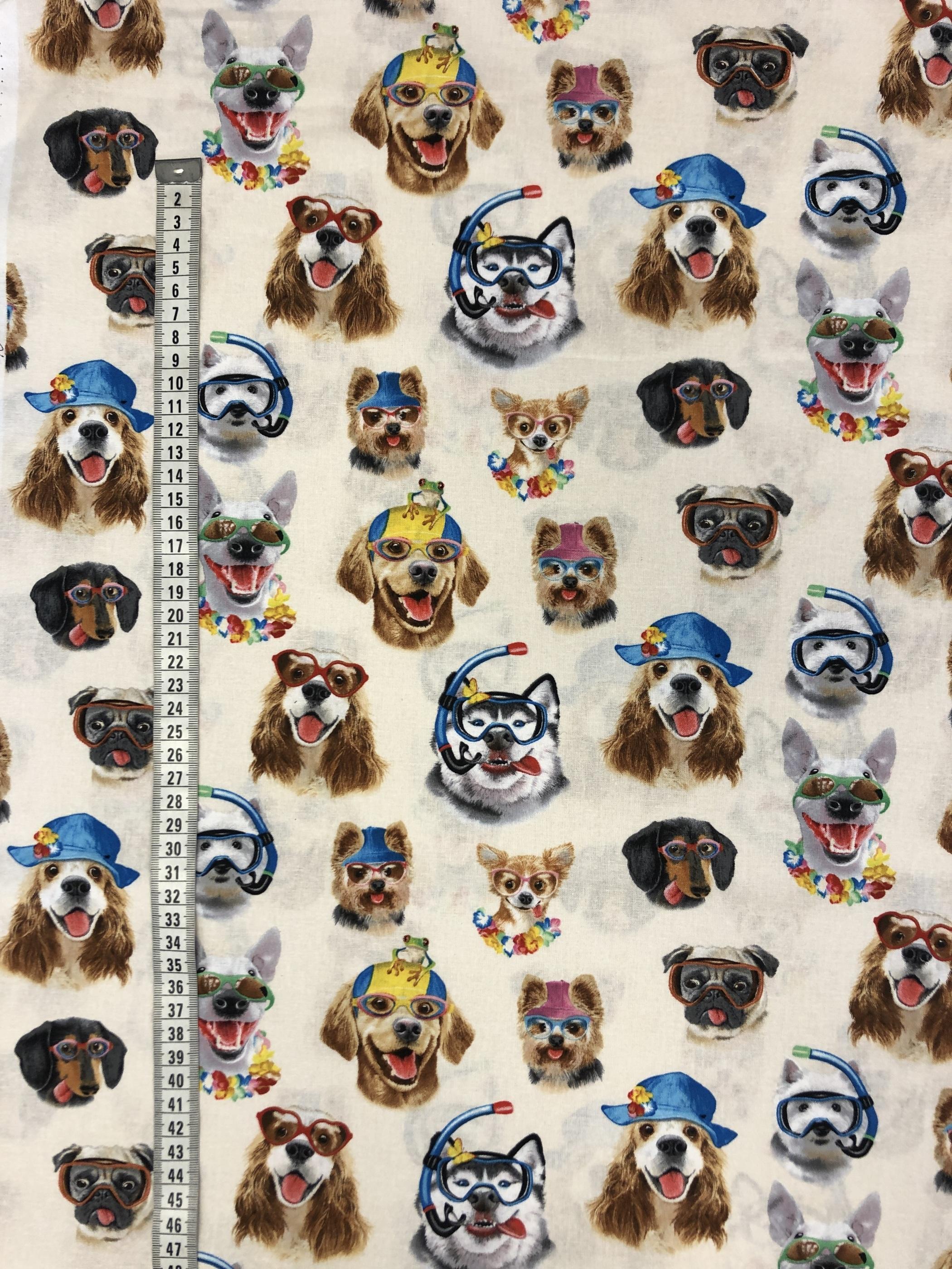 semesterhundar semester hundar bomullsväv metervara tyglust laholm