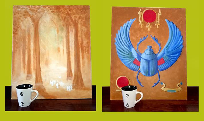 Acrylics 50 x 61 cm