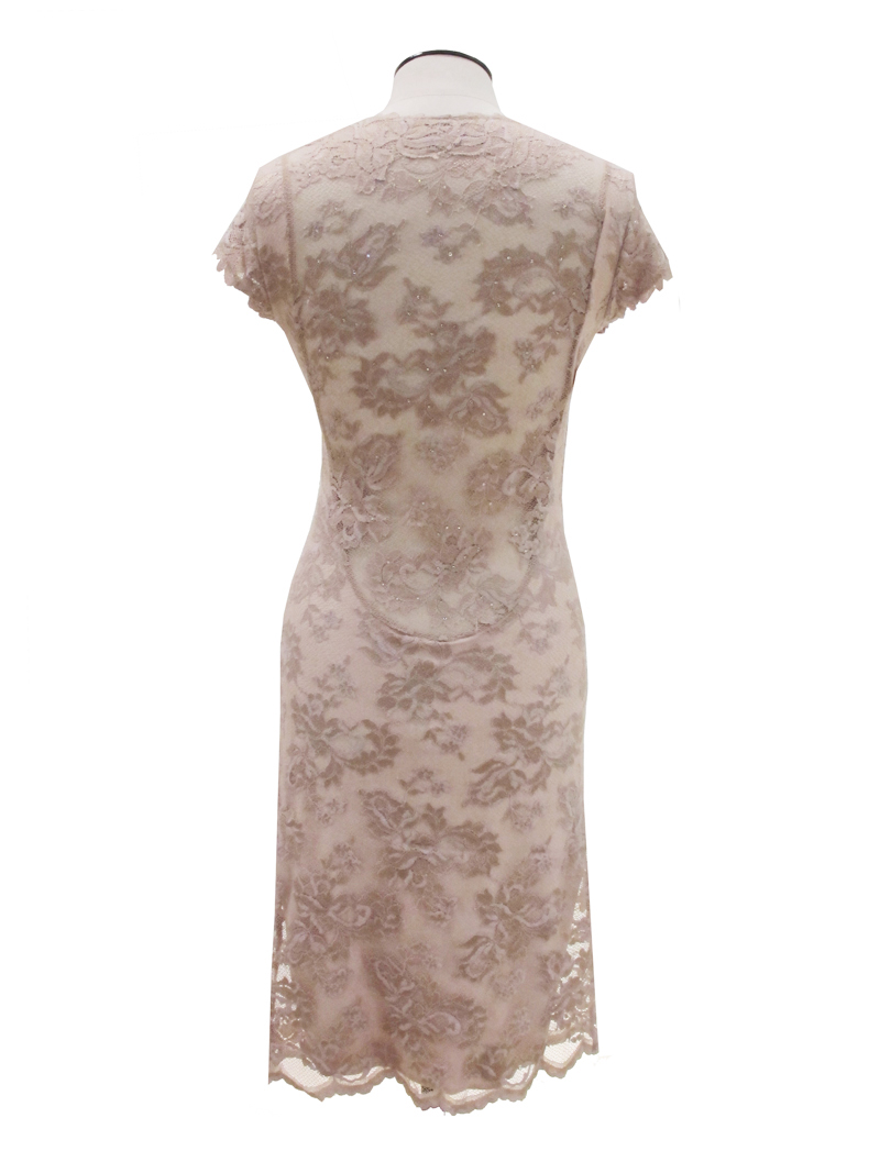 Olvis' Svarowski Lace Dress Champagne