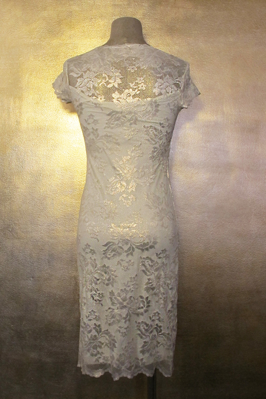 Olvis' Shimmer Lace Dress | Platinum