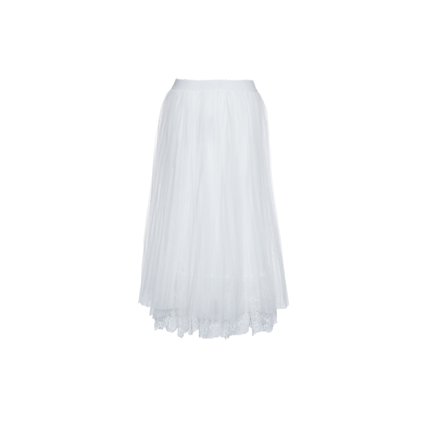 Paris Picked Long Pleat Skirt With Lace