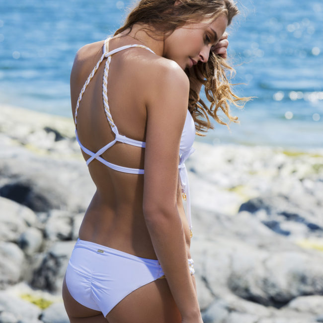 Demadly Braided Cascade Bikini | White