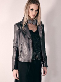 FRONTROW BIKERY JACKET GREY METALLIC