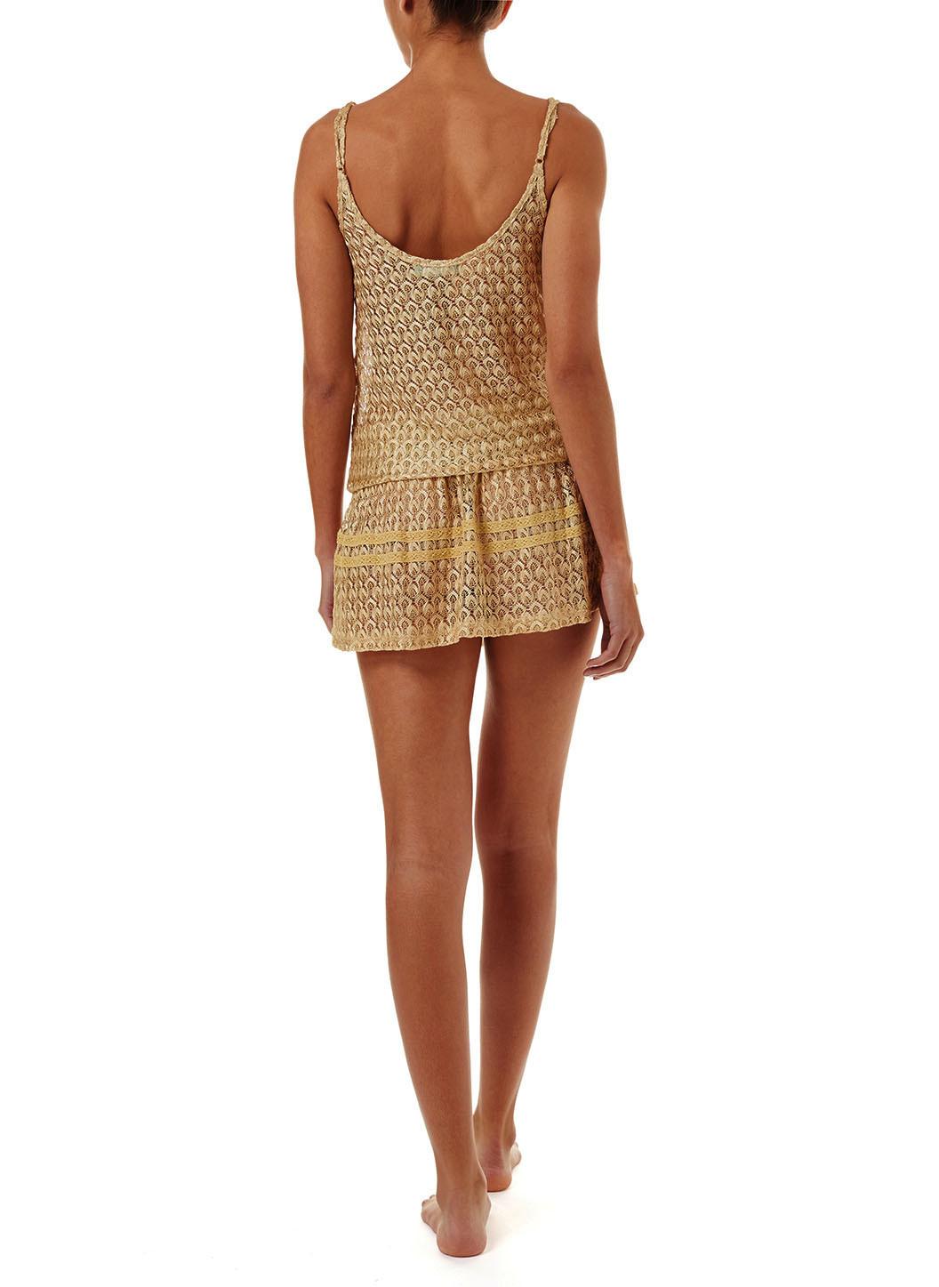 khloe-gold-crochet-overtheshoulder-short-beach-dress-2019-b
