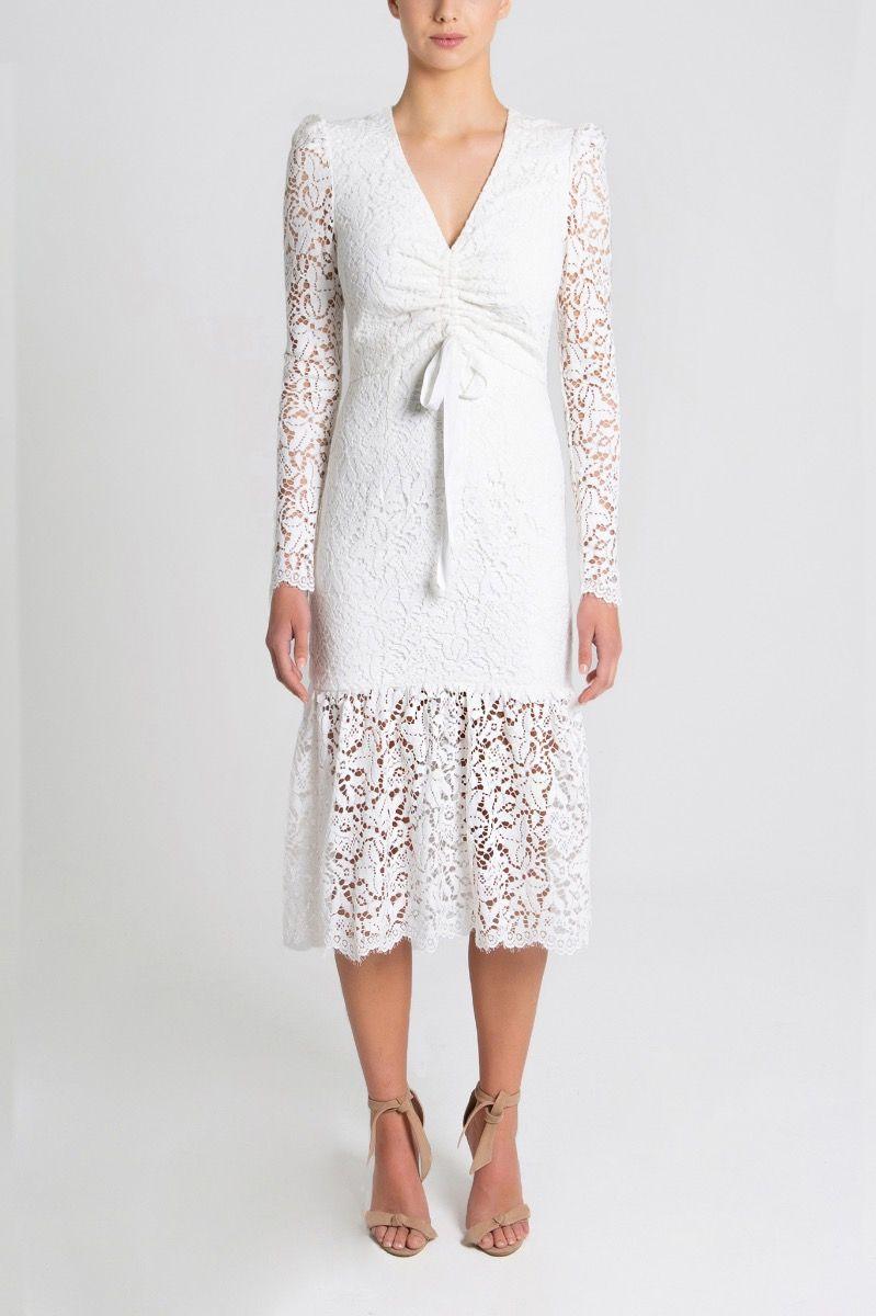 le-saint-ruched-dress-white-front2