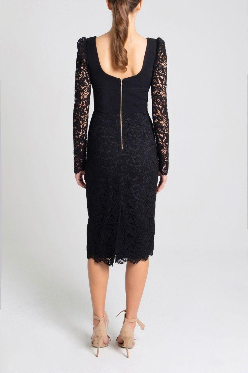 le-saint-black-back-midi-dress