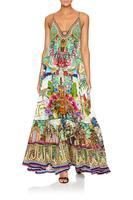 CAMILLA U-RING SILK MAXI DRESS |CHAMPAGNE COAST PRINT