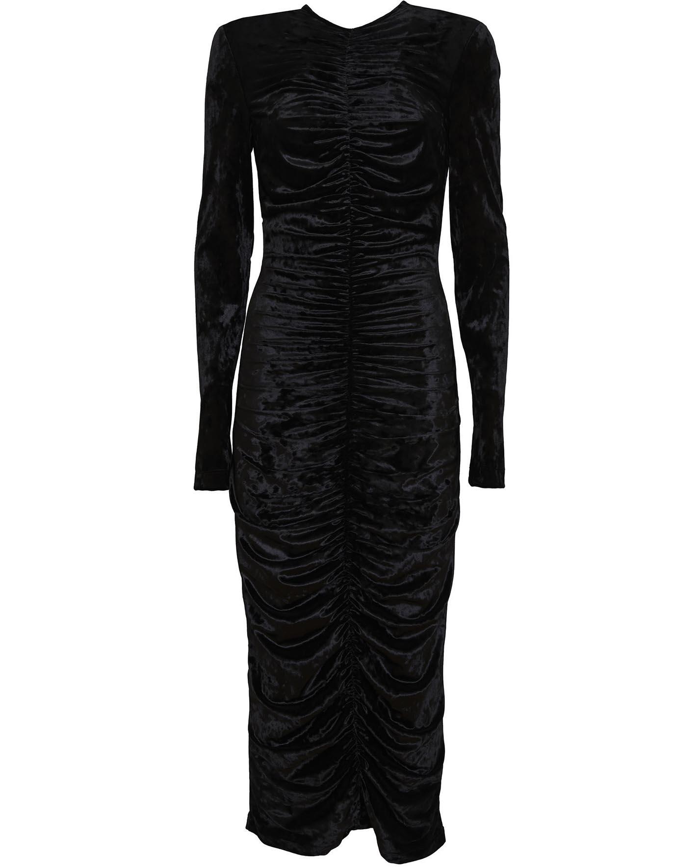 sara-battaglia-Velvet-Draping-dress