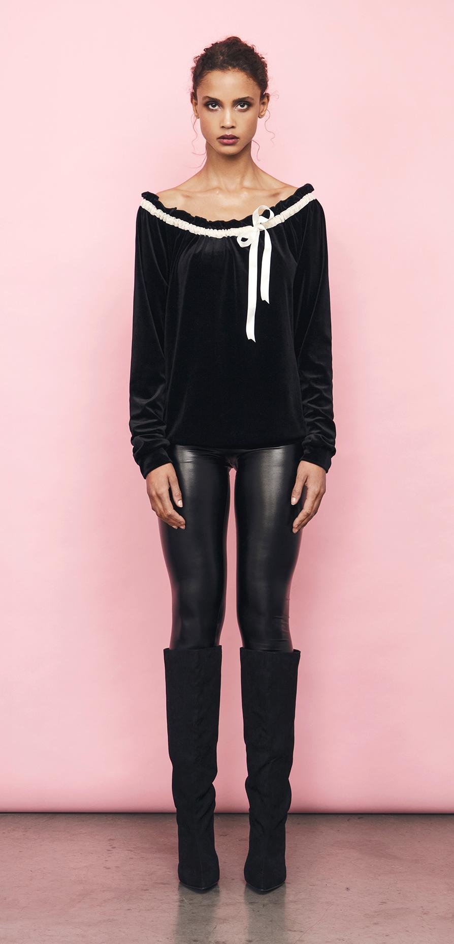heaven sweater black ivory