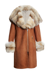 LEVINSKY FUR AND SHEARLING COAT | GOLDEN