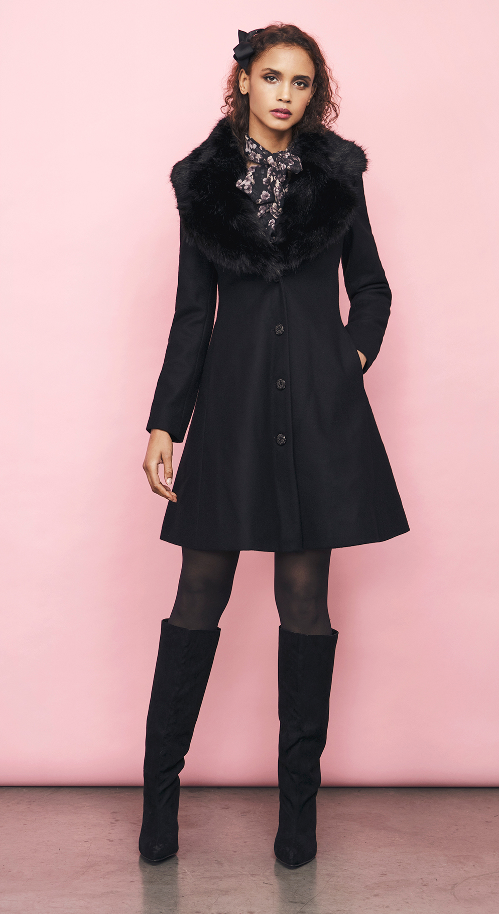 tracey coat black