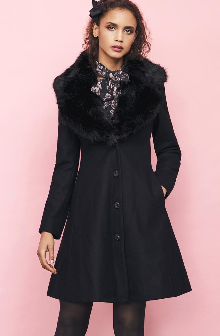 tracey coat blacSMk