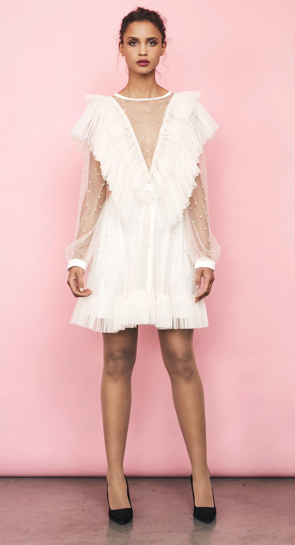 paige dress cream