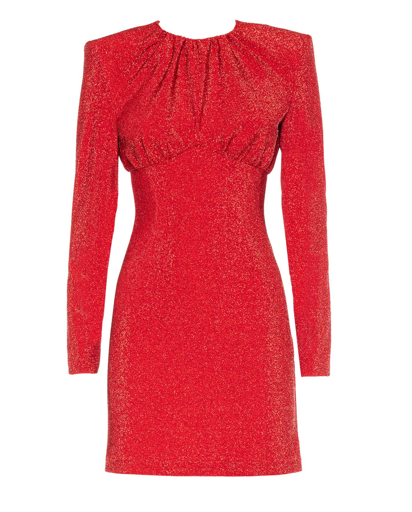 sara-battaglia-mini-lurex-red-dress